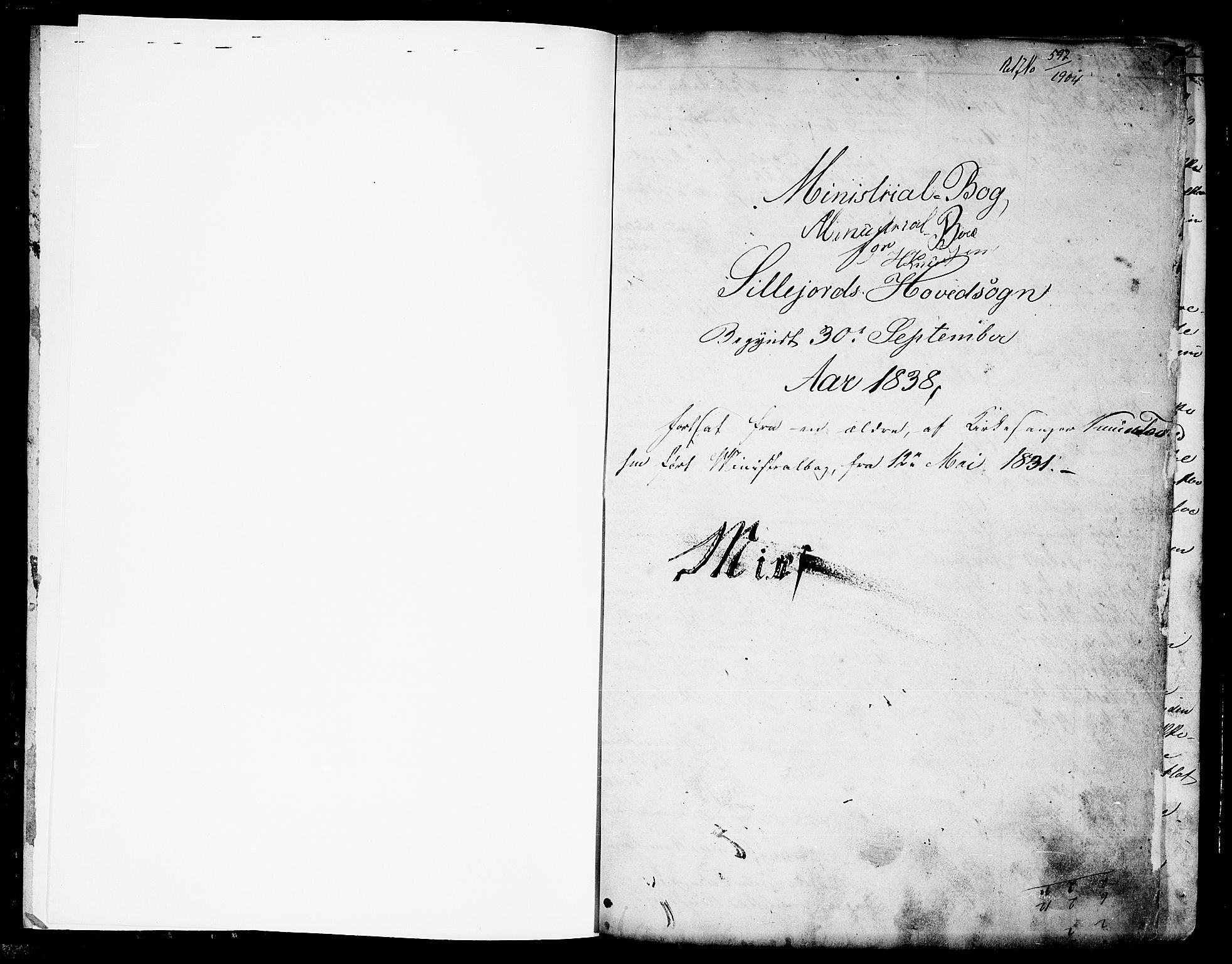 SAKO, Seljord kirkebøker, G/Ga/L0002: Klokkerbok nr. I 2, 1838-1866, s. 1