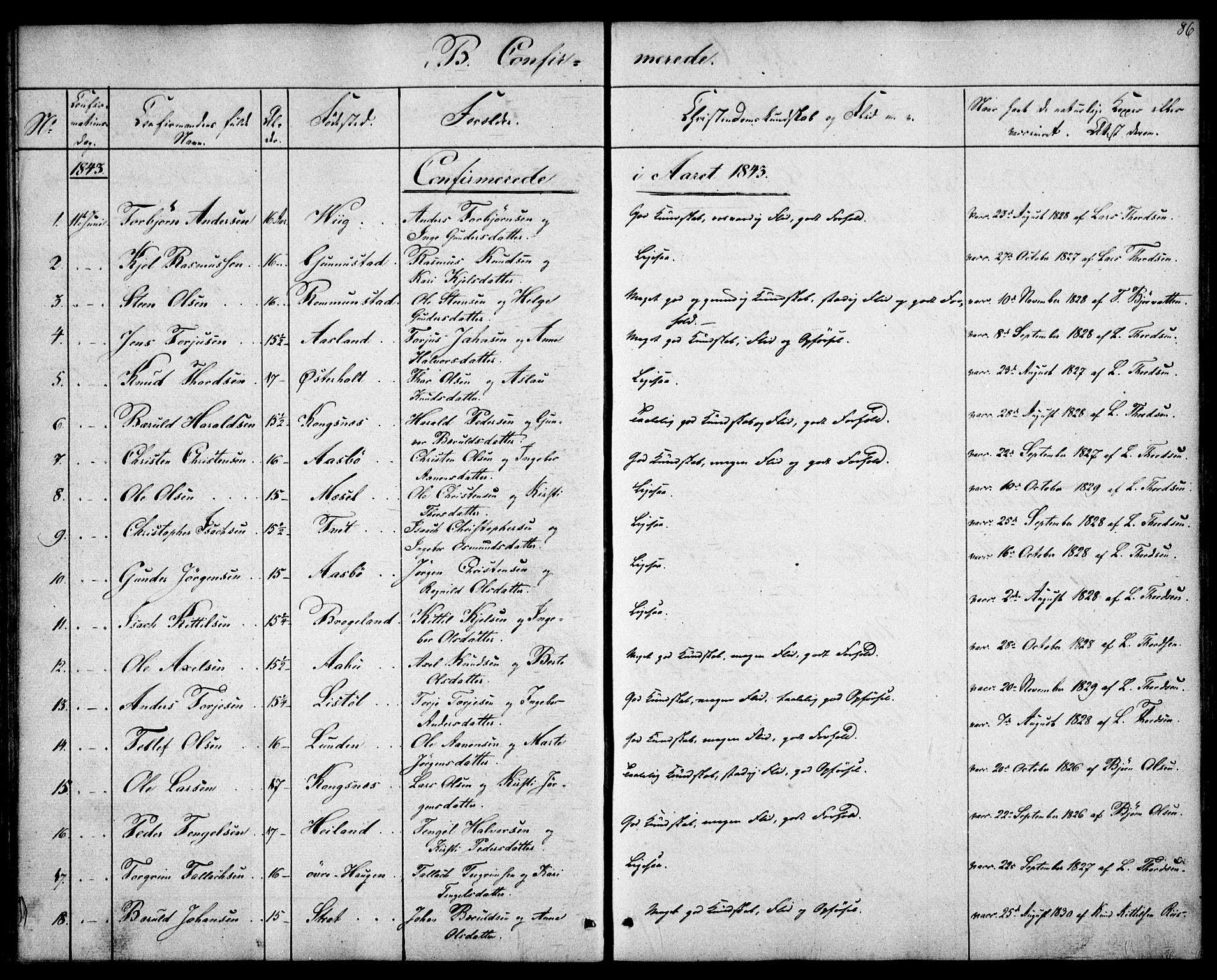 SAK, Gjerstad sokneprestkontor, F/Fa/Faa/L0006: Ministerialbok nr. A 6, 1841-1857, s. 86