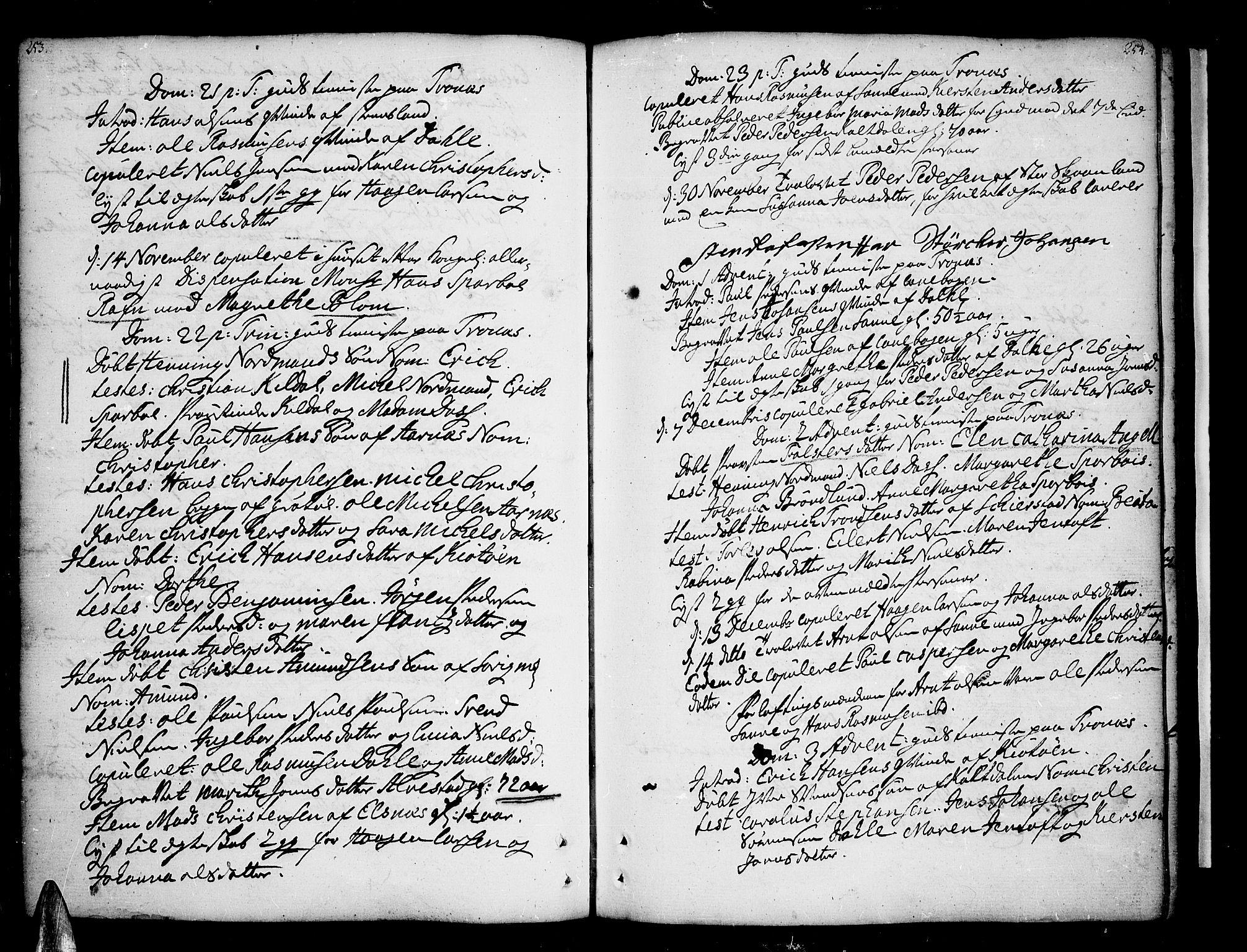 SATØ, Trondenes sokneprestkontor, H/Ha/L0002kirke: Ministerialbok nr. 2, 1751-1781, s. 253-254