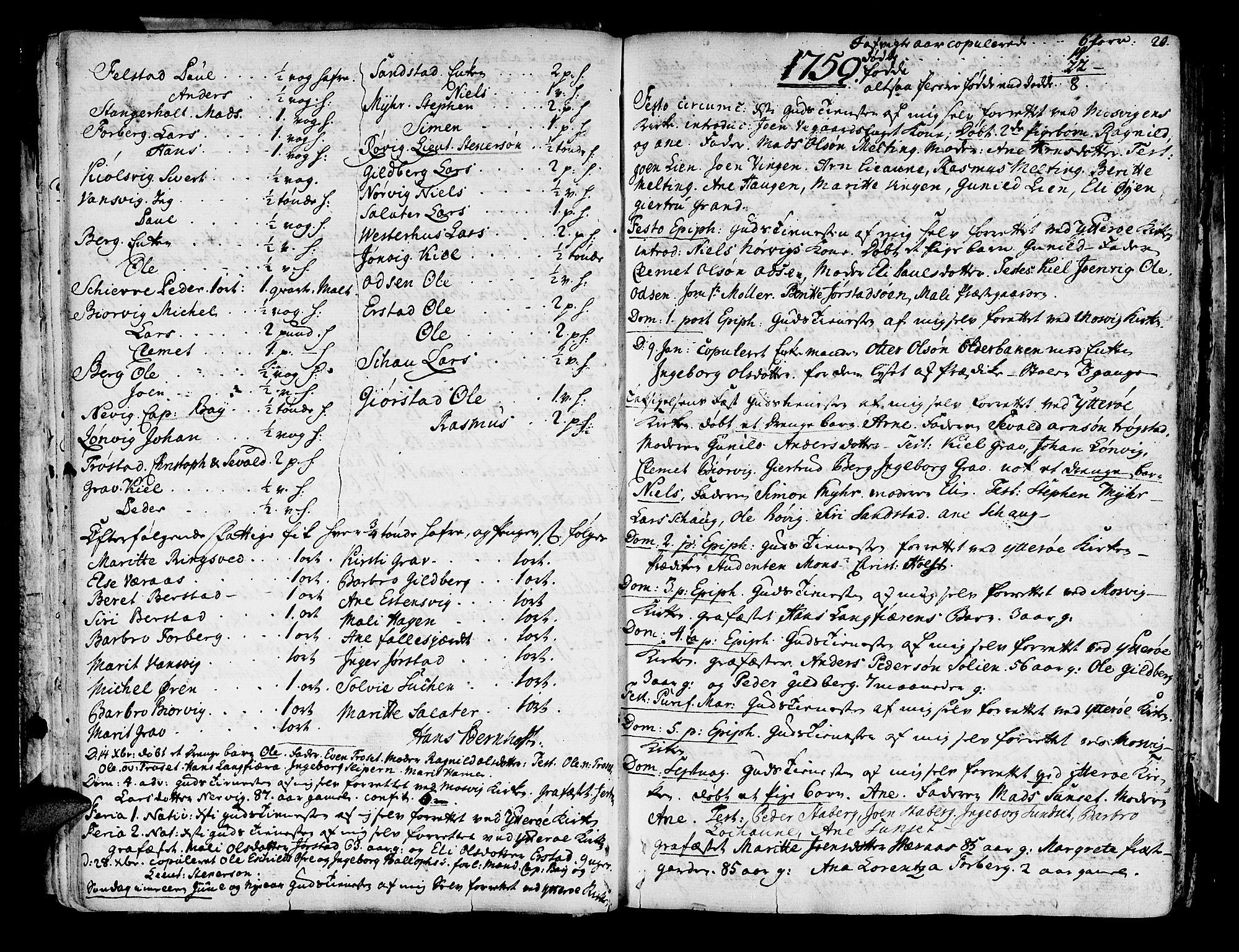 SAT, Ministerialprotokoller, klokkerbøker og fødselsregistre - Nord-Trøndelag, 722/L0216: Ministerialbok nr. 722A03, 1756-1816, s. 20