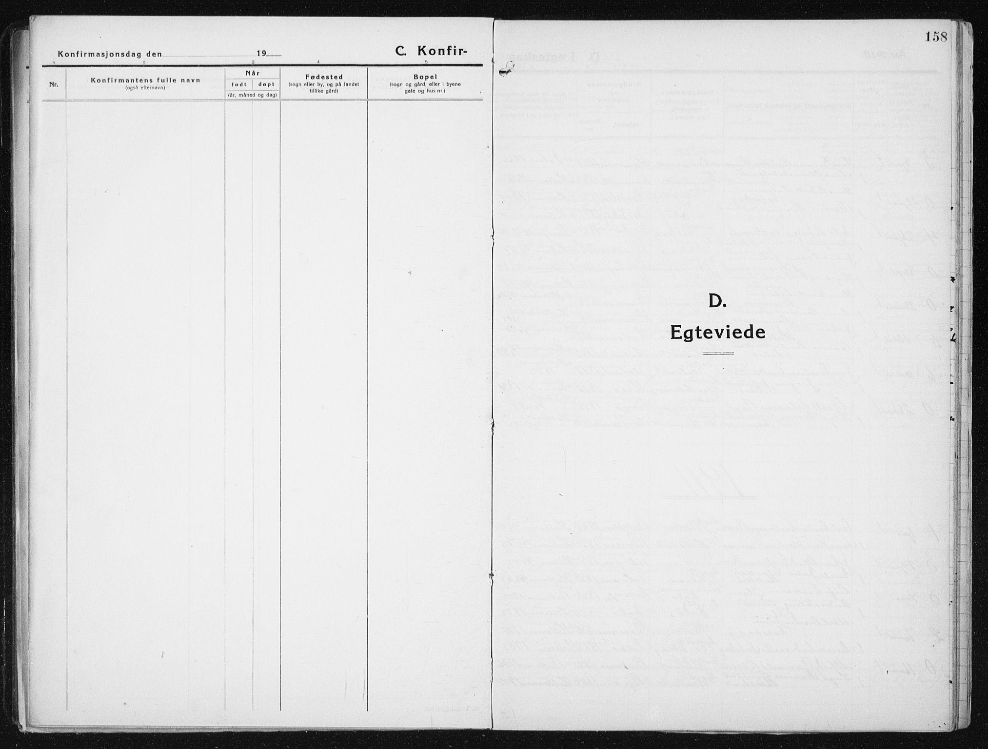 SAT, Ministerialprotokoller, klokkerbøker og fødselsregistre - Sør-Trøndelag, 641/L0599: Klokkerbok nr. 641C03, 1910-1938, s. 158
