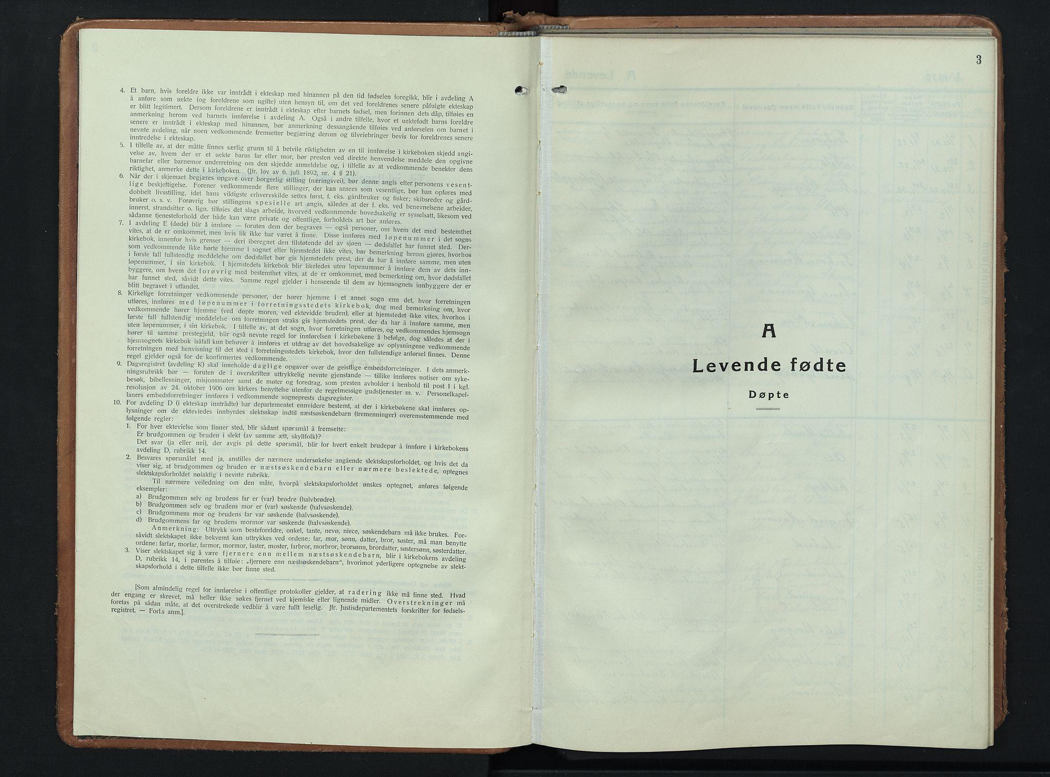 SAH, Nordre Land prestekontor, Klokkerbok nr. 3, 1932-1946, s. 3