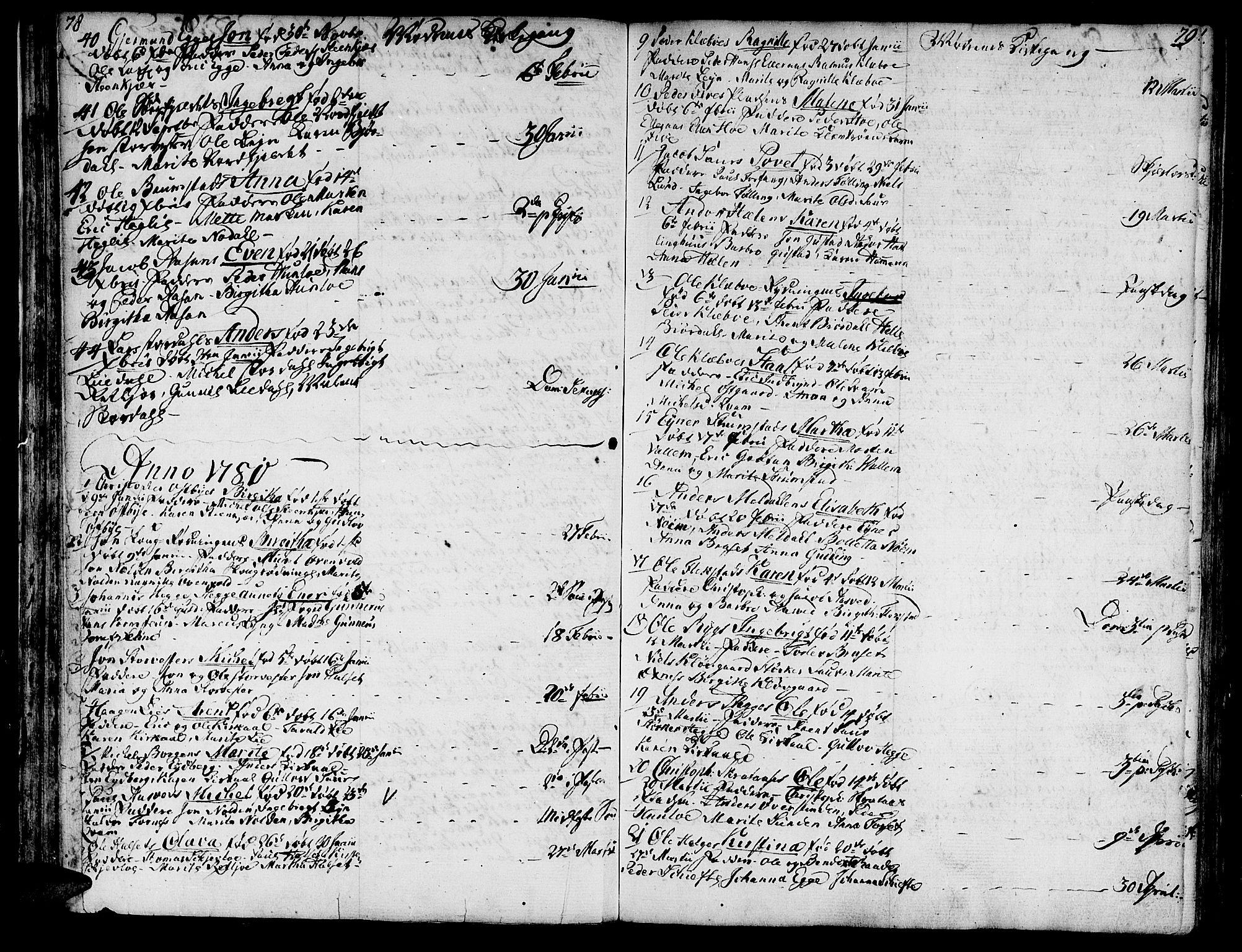 SAT, Ministerialprotokoller, klokkerbøker og fødselsregistre - Nord-Trøndelag, 746/L0440: Ministerialbok nr. 746A02, 1760-1815, s. 78-79
