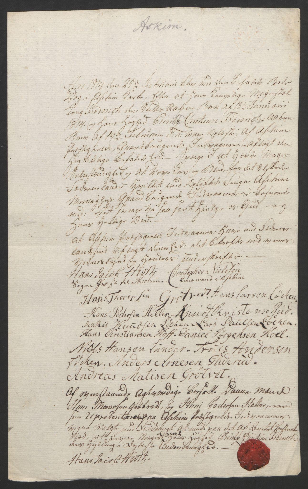 RA, Statsrådssekretariatet, D/Db/L0007: Fullmakter for Eidsvollsrepresentantene i 1814. , 1814, s. 141
