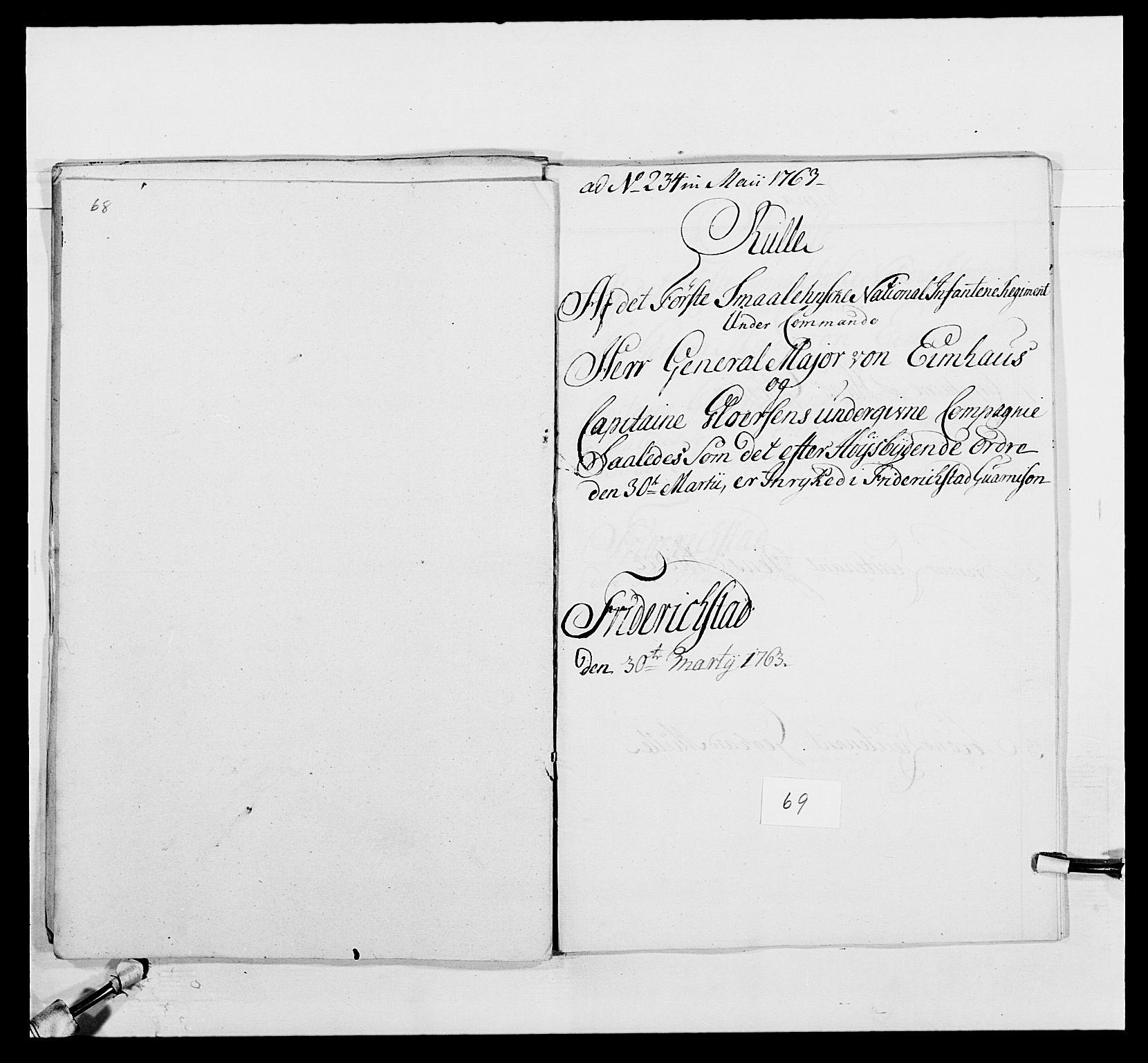 RA, Kommanderende general (KG I) med Det norske krigsdirektorium, E/Ea/L0495: 1. Smålenske regiment, 1732-1763, s. 862