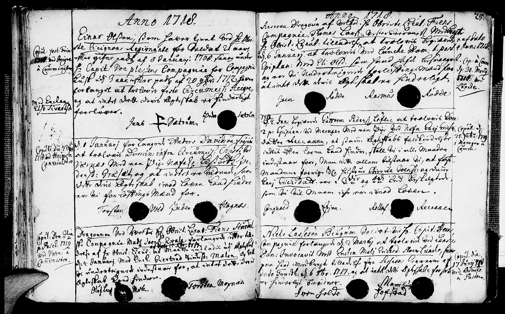 SAT, Ministerialprotokoller, klokkerbøker og fødselsregistre - Nord-Trøndelag, 709/L0053: Ministerialbok nr. 709A01, 1714-1729, s. 25