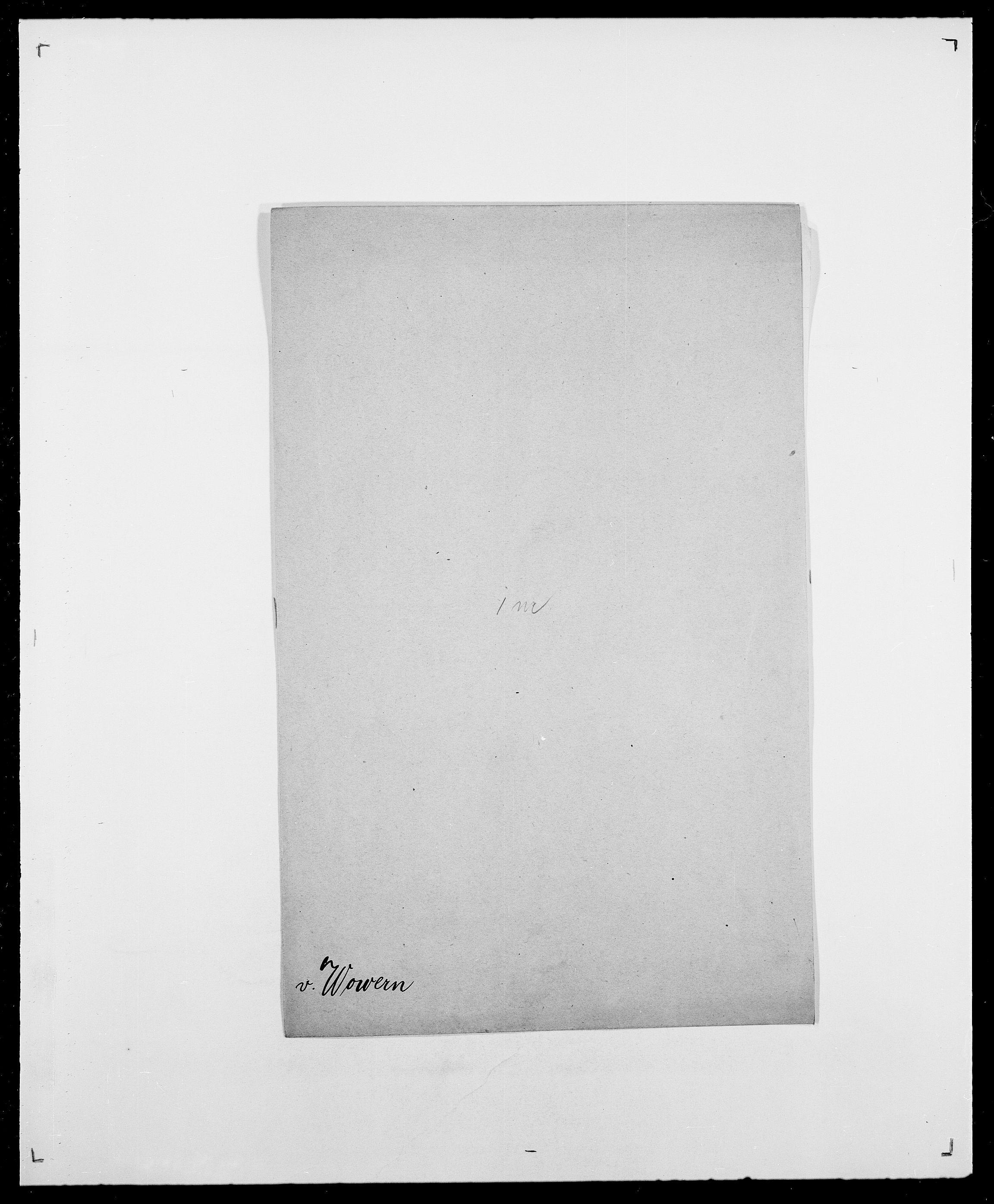 SAO, Delgobe, Charles Antoine - samling, D/Da/L0042: Vilain - Wulf, Wulff, se også Wolf, s. 715