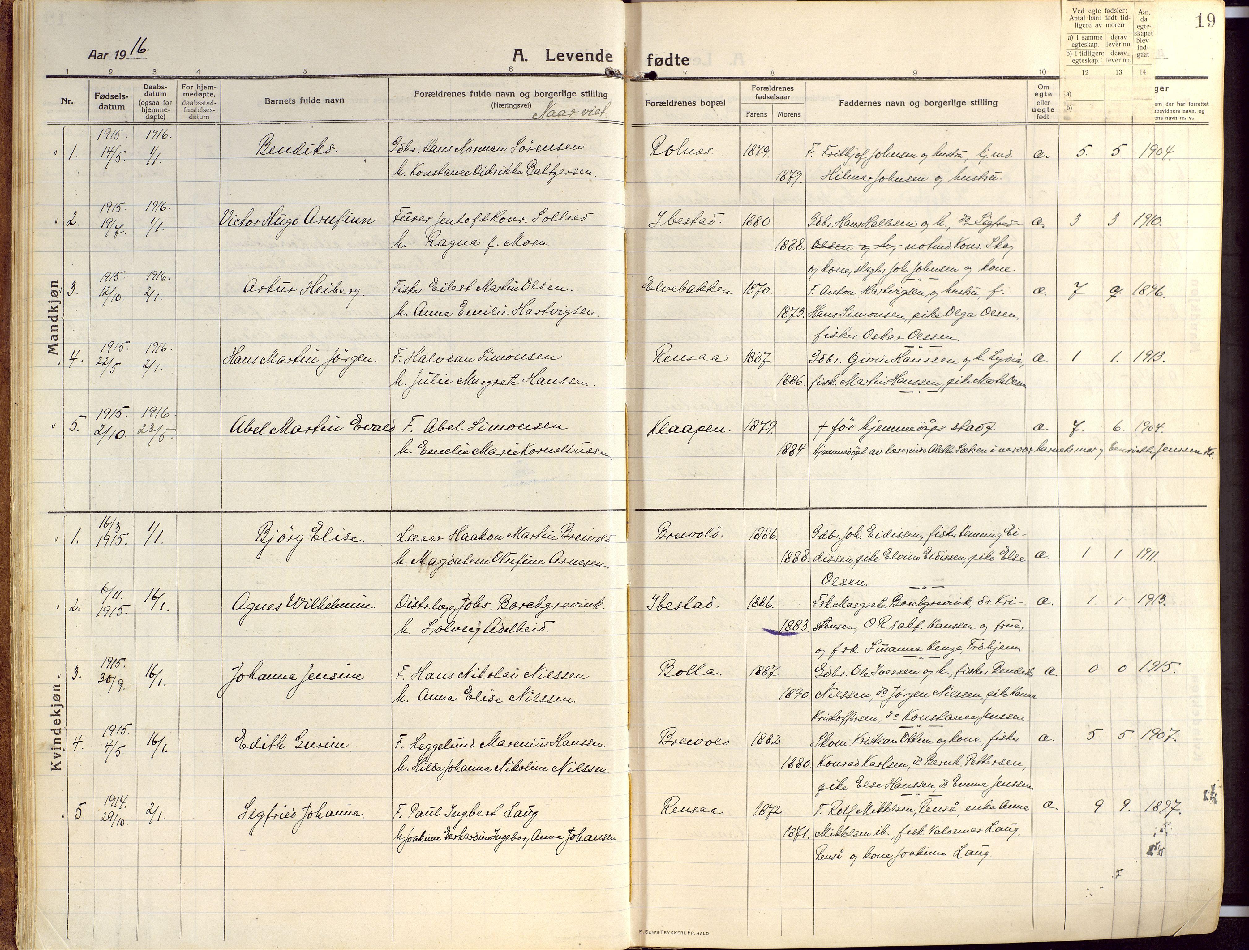 SATØ, Ibestad sokneprestembete, Ministerialbok nr. 18, 1915-1929, s. 19