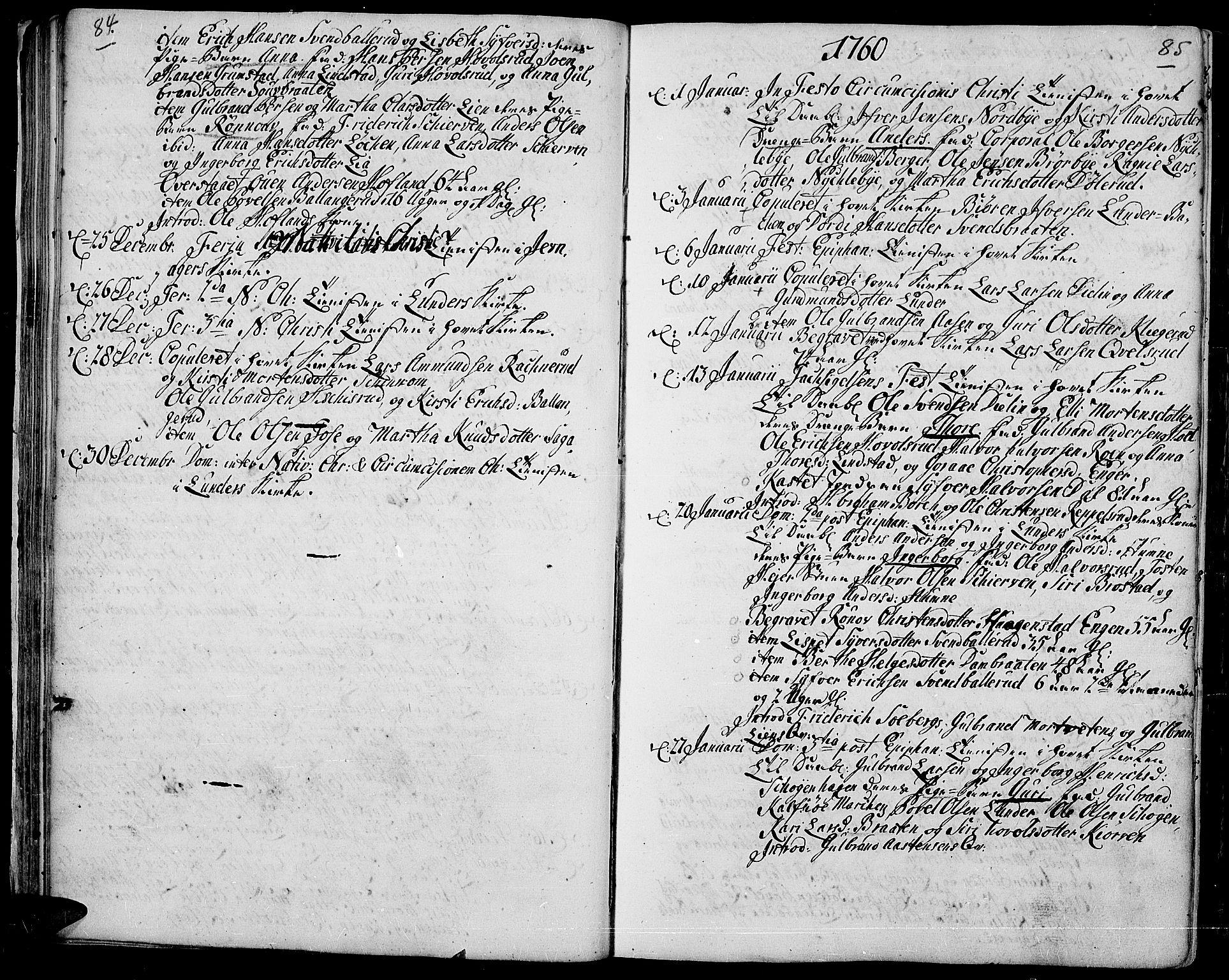 SAH, Jevnaker prestekontor, Ministerialbok nr. 3, 1752-1799, s. 84-85