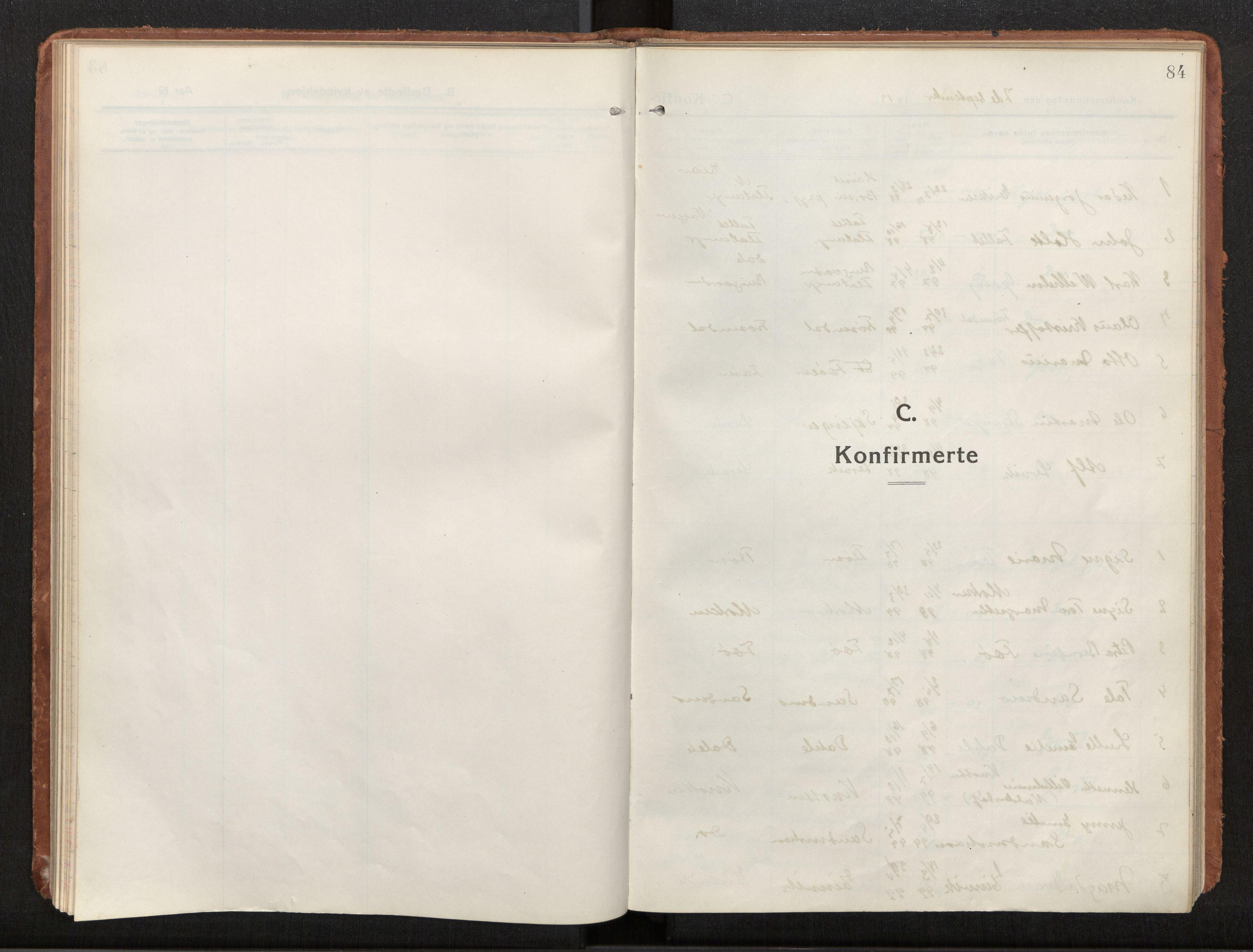 SAT, Ministerialprotokoller, klokkerbøker og fødselsregistre - Nord-Trøndelag, 772/L0604: Ministerialbok nr. 772A02, 1913-1937, s. 84