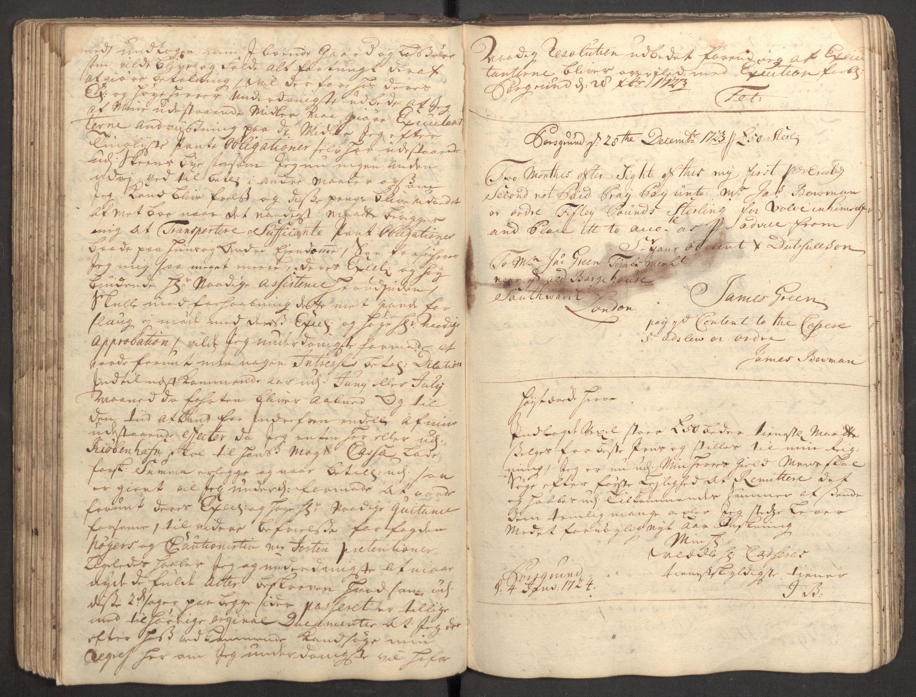 RA, Bowman, James, B/L0002, 1723-1724, s. 110