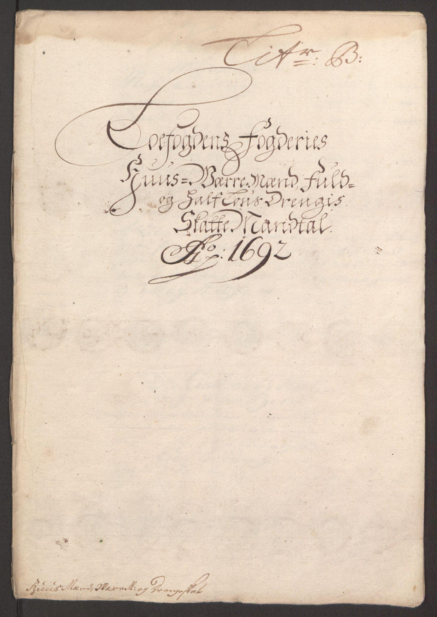 RA, Rentekammeret inntil 1814, Reviderte regnskaper, Fogderegnskap, R67/L4675: Fogderegnskap Vesterålen, Andenes og Lofoten, 1691-1693, s. 134