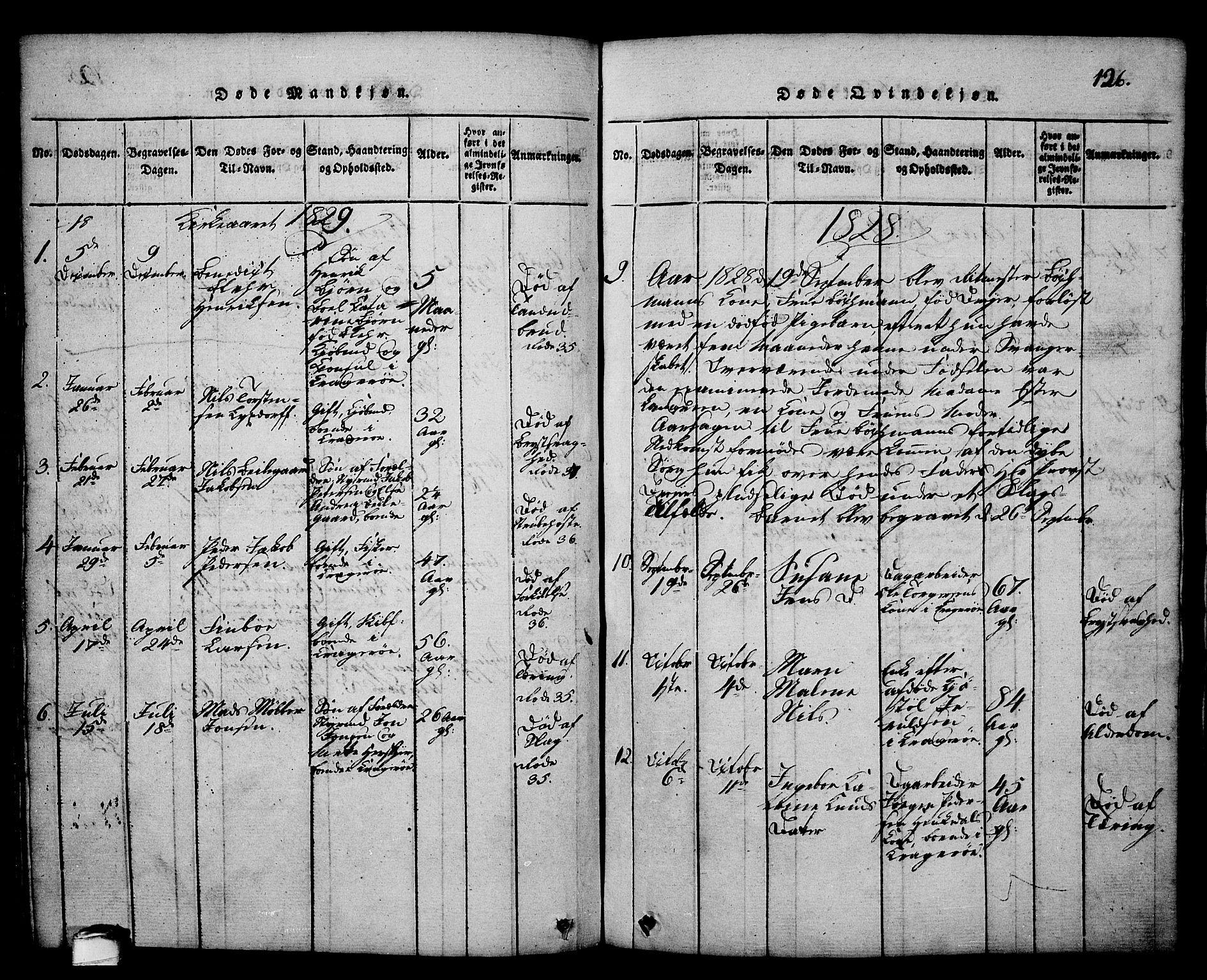 SAKO, Kragerø kirkebøker, G/Ga/L0002: Klokkerbok nr. 2, 1814-1831, s. 126