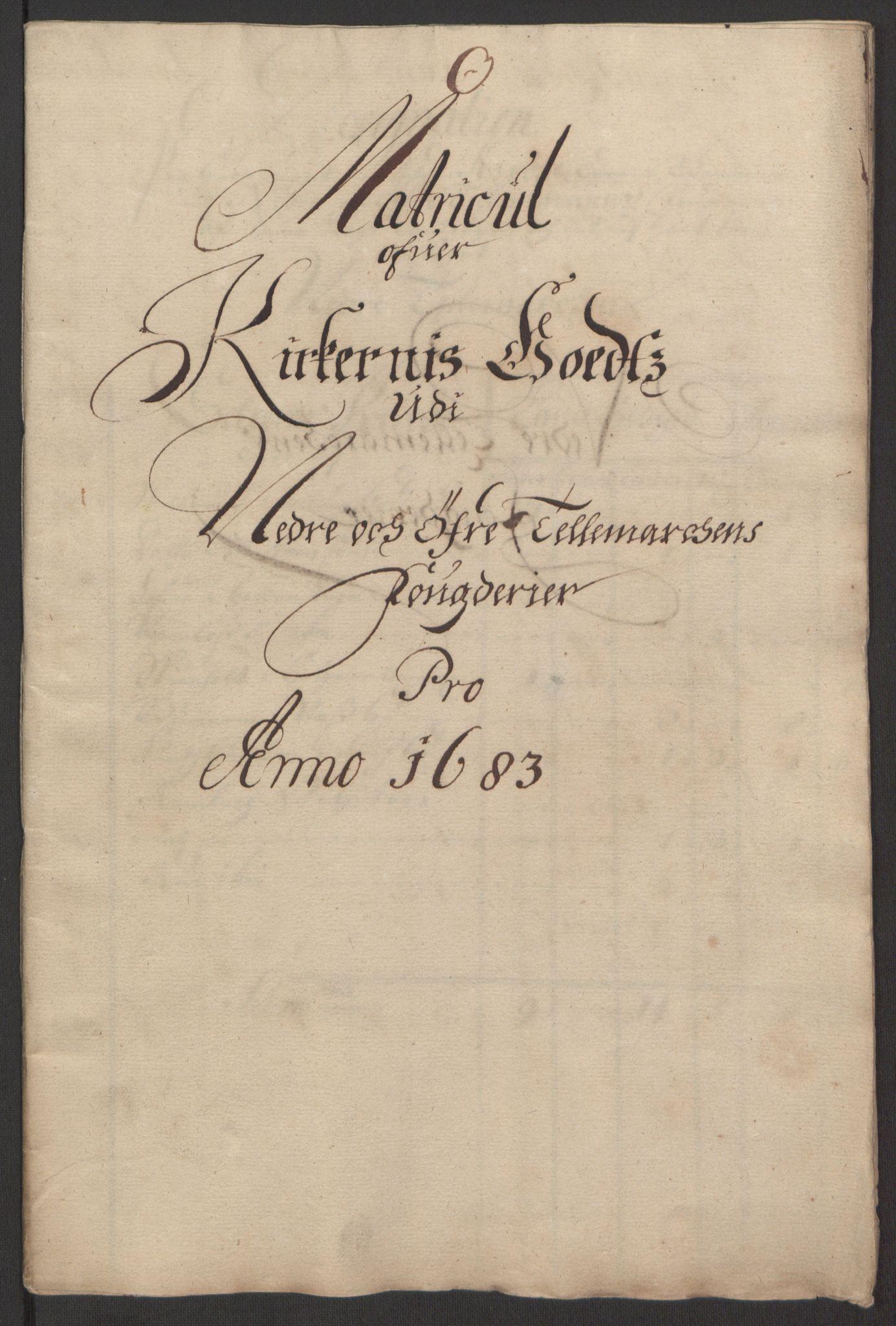 RA, Rentekammeret inntil 1814, Reviderte regnskaper, Fogderegnskap, R35/L2080: Fogderegnskap Øvre og Nedre Telemark, 1680-1684, s. 222