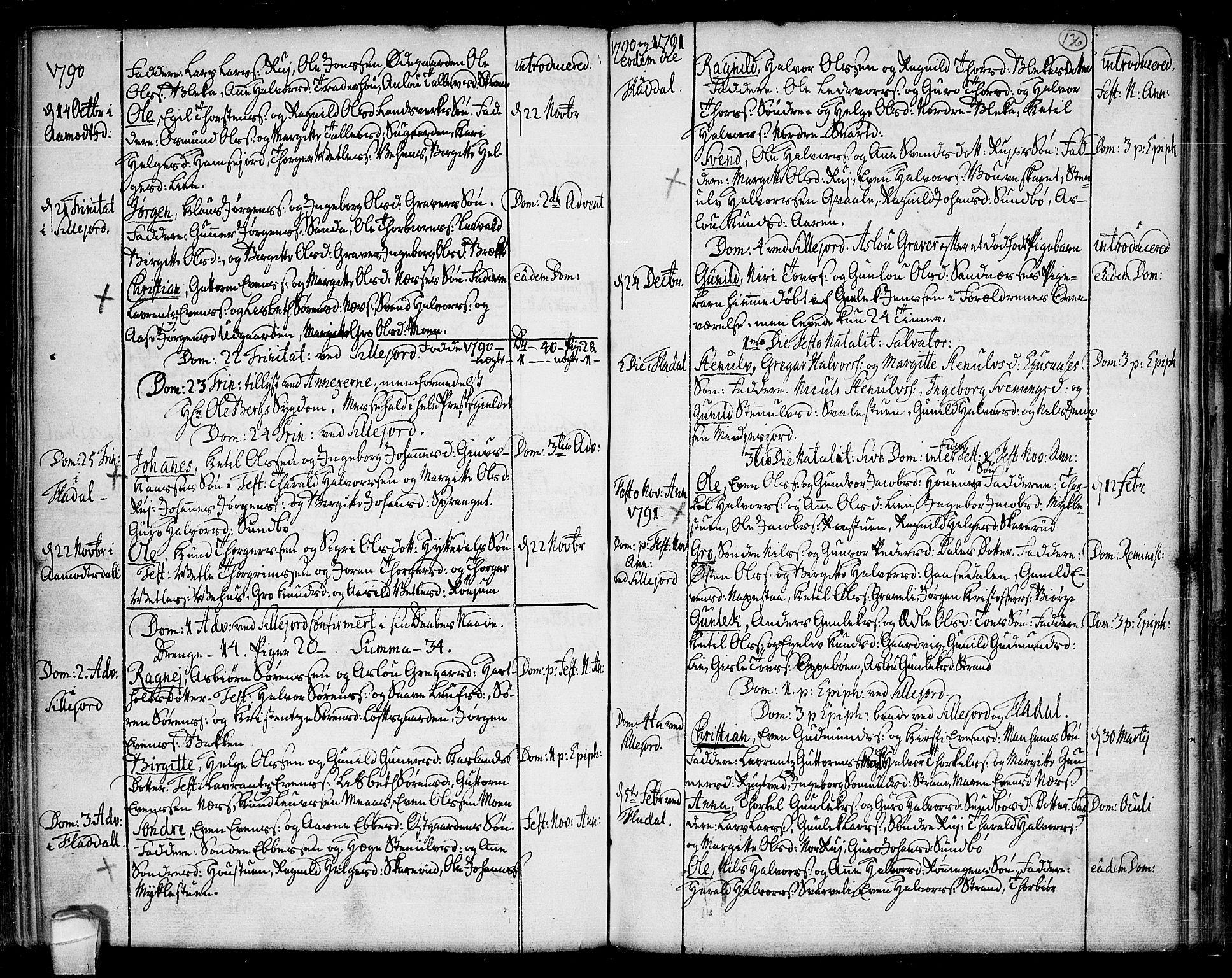 SAKO, Seljord kirkebøker, F/Fa/L0007: Ministerialbok nr. I 7, 1755-1800, s. 136