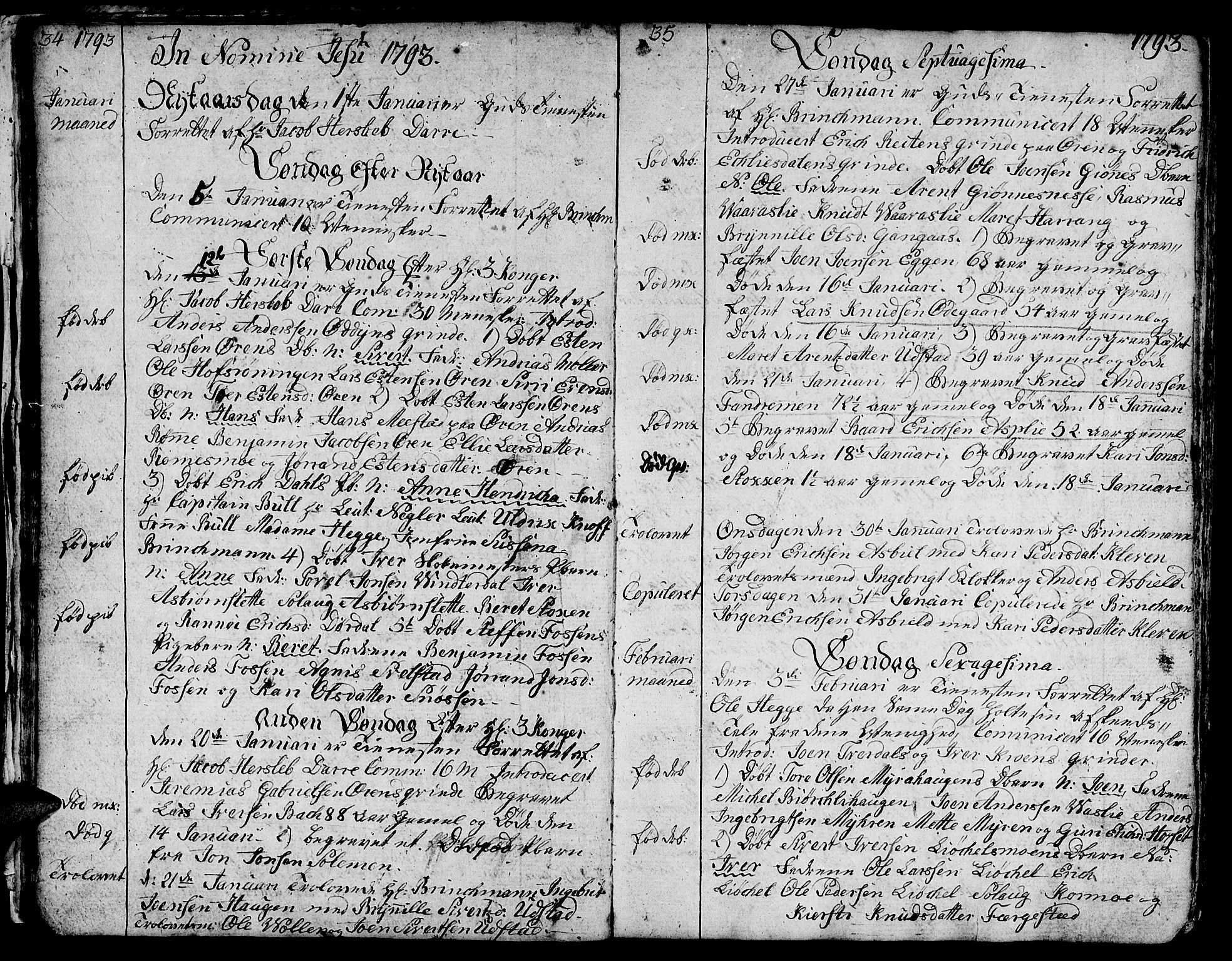 SAT, Ministerialprotokoller, klokkerbøker og fødselsregistre - Sør-Trøndelag, 668/L0815: Klokkerbok nr. 668C04, 1791-1815, s. 34-35