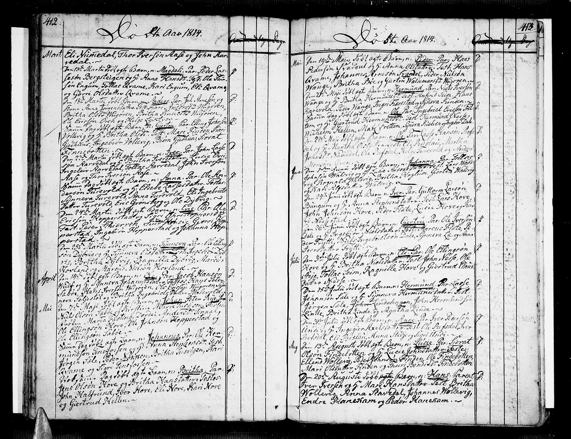 SAB, Vik Sokneprestembete, Ministerialbok nr. A 5, 1787-1820, s. 412-413