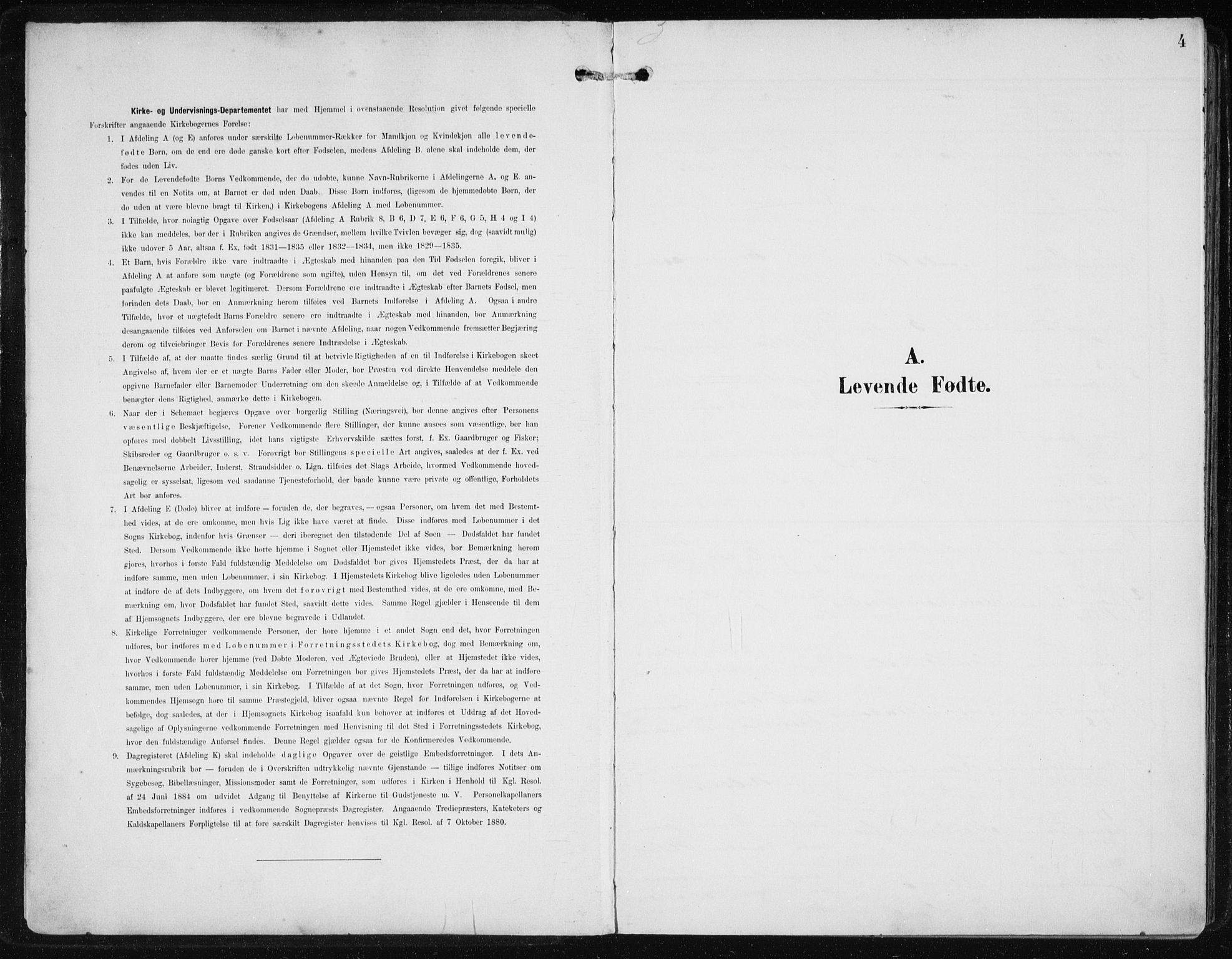 SAB, Fjell Sokneprestembete, H/Haa: Ministerialbok nr. A  9, 1899-1910, s. 4