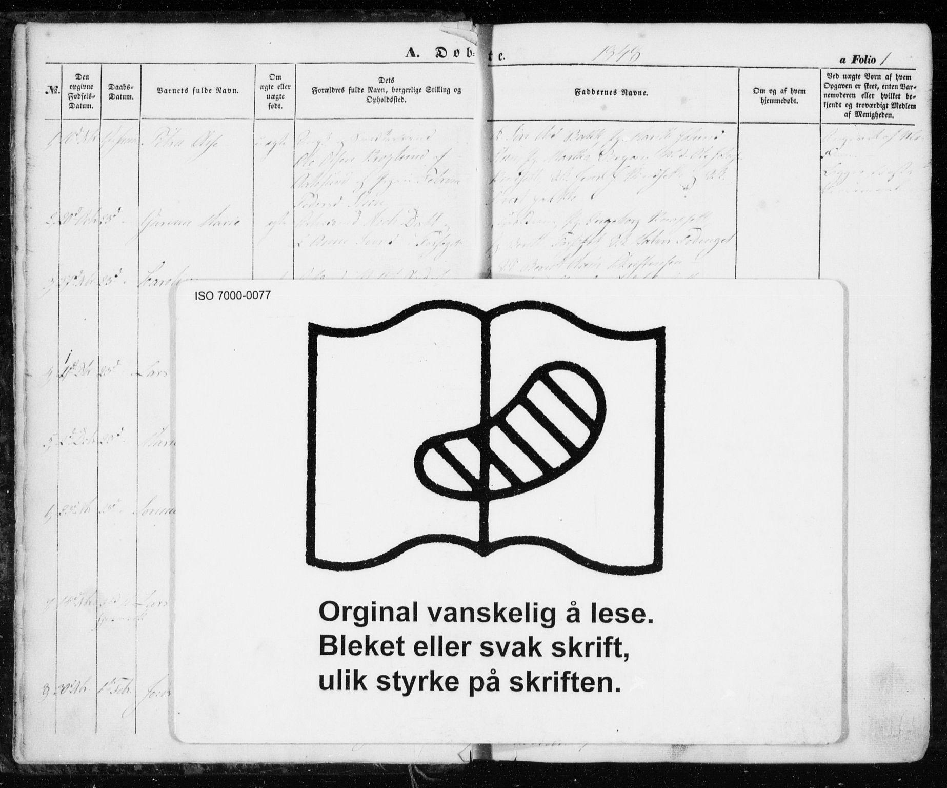 SAT, Ministerialprotokoller, klokkerbøker og fødselsregistre - Sør-Trøndelag, 606/L0291: Ministerialbok nr. 606A06, 1848-1856, s. 1