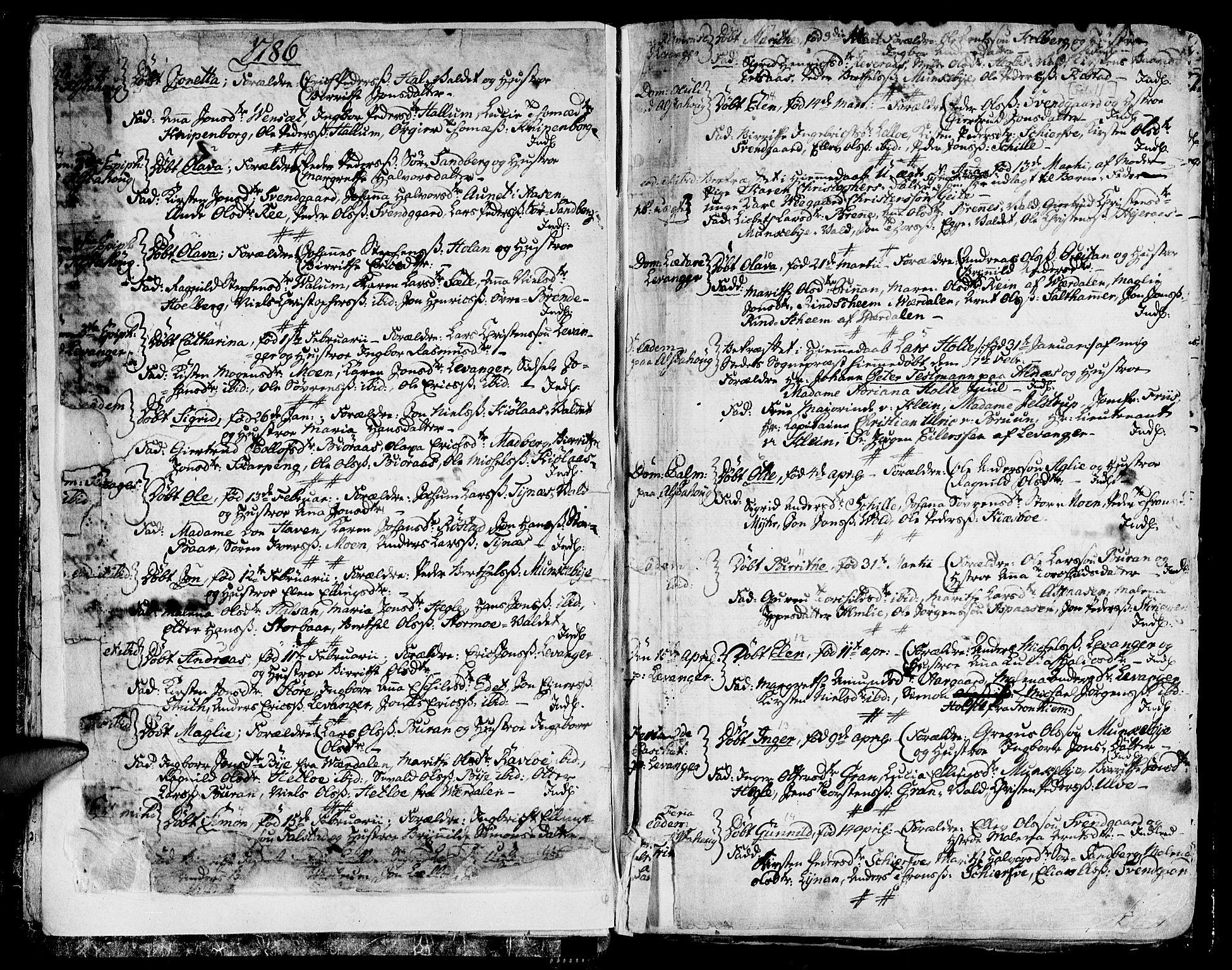 SAT, Ministerialprotokoller, klokkerbøker og fødselsregistre - Nord-Trøndelag, 717/L0142: Ministerialbok nr. 717A02 /1, 1783-1809, s. 11