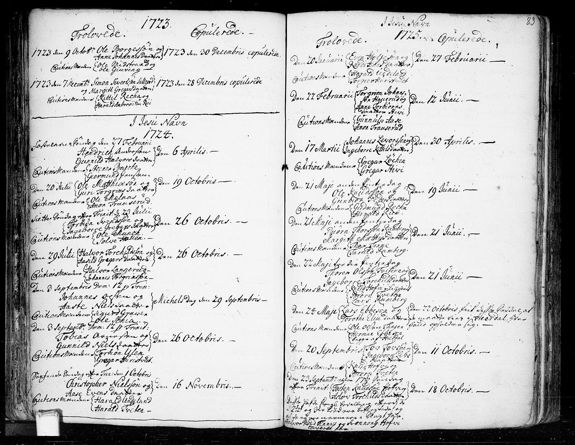 SAKO, Heddal kirkebøker, F/Fa/L0003: Ministerialbok nr. I 3, 1723-1783, s. 83
