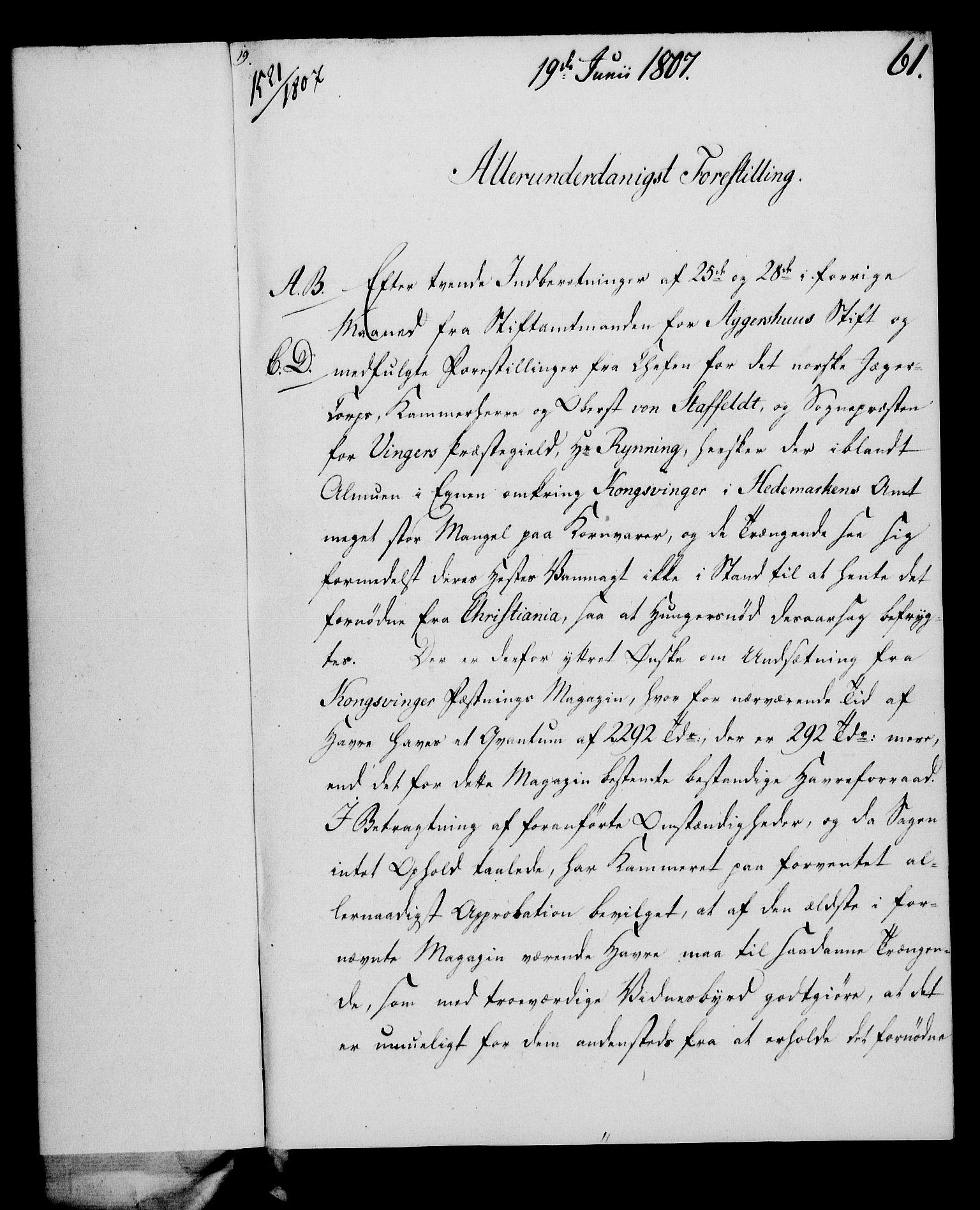RA, Rentekammeret, Kammerkanselliet, G/Gf/Gfa/L0089: Norsk relasjons- og resolusjonsprotokoll (merket RK 52.89), 1807, s. 388