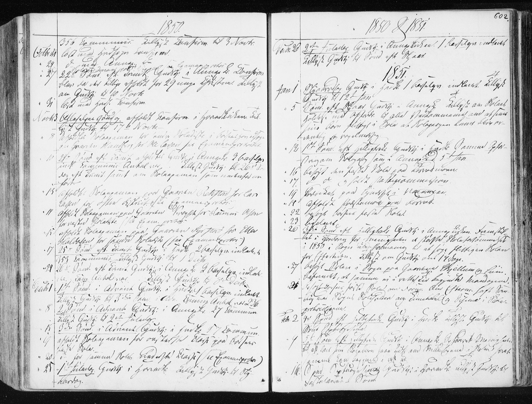 SAT, Ministerialprotokoller, klokkerbøker og fødselsregistre - Sør-Trøndelag, 665/L0771: Ministerialbok nr. 665A06, 1830-1856, s. 602