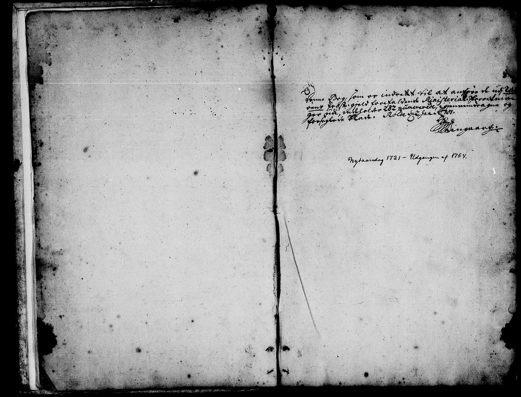SAT, Ministerialprotokoller, klokkerbøker og fødselsregistre - Møre og Romsdal, 547/L0599: Ministerialbok nr. 547A01, 1721-1764
