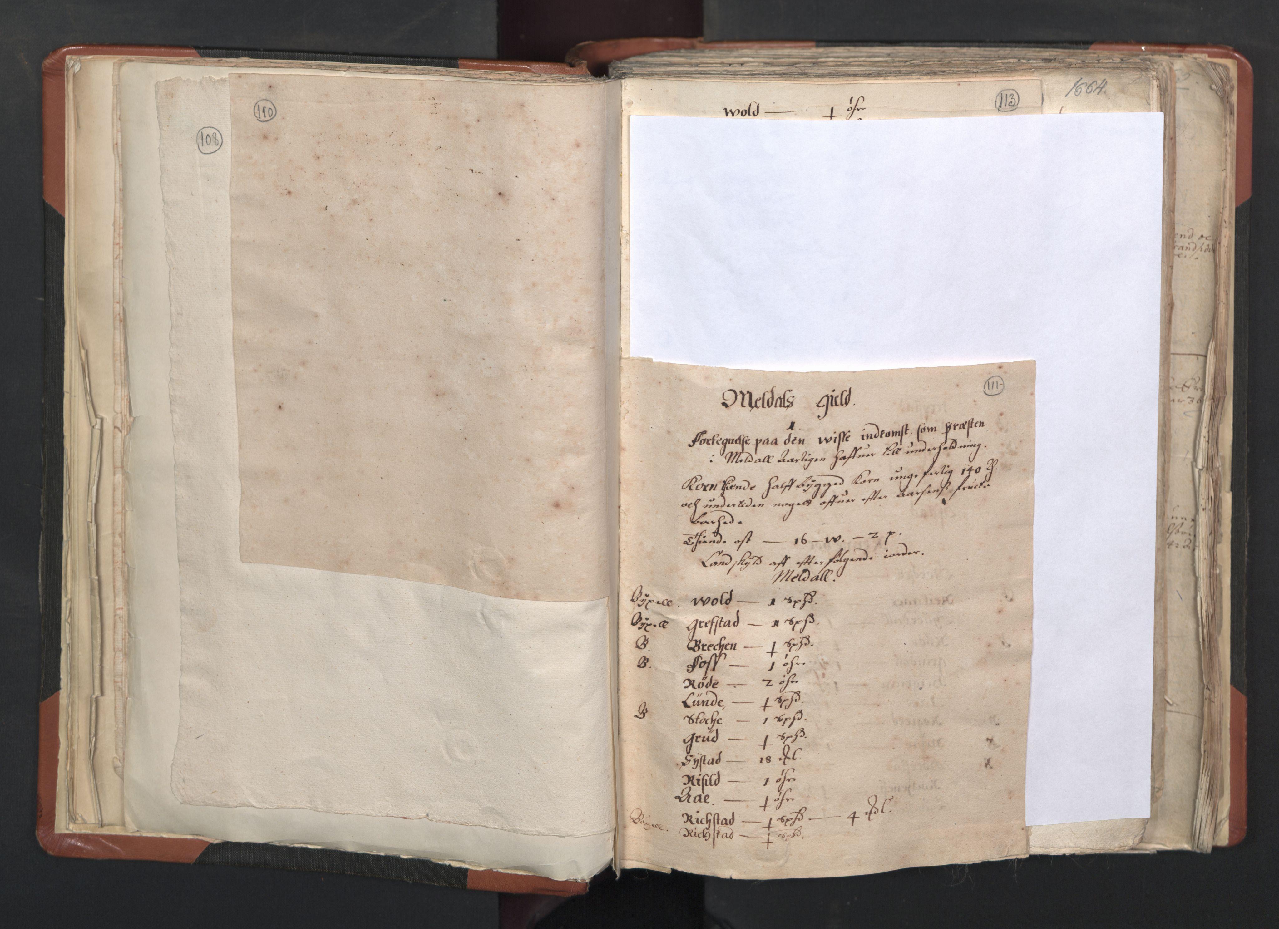 RA, Sogneprestenes manntall 1664-1666, nr. 31: Dalane prosti, 1664-1666, s. 110-111