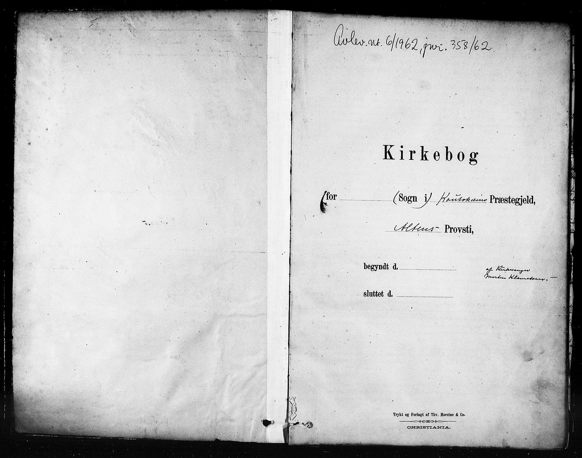 SATØ, Kautokeino sokneprestembete, H/Hb/L0002.klokk: Klokkerbok nr. 2, 1877-1896