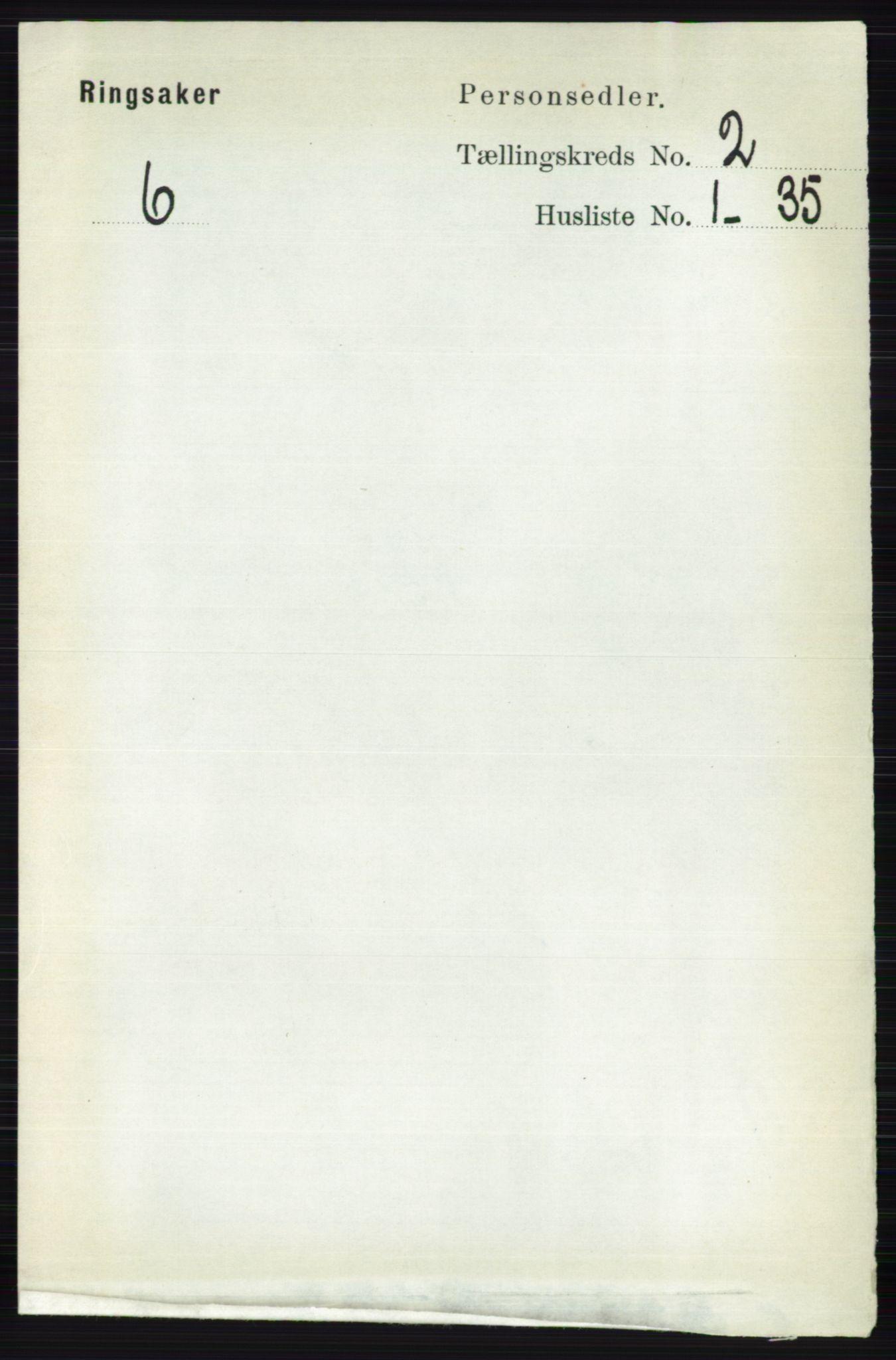 RA, Folketelling 1891 for 0412 Ringsaker herred, 1891, s. 818