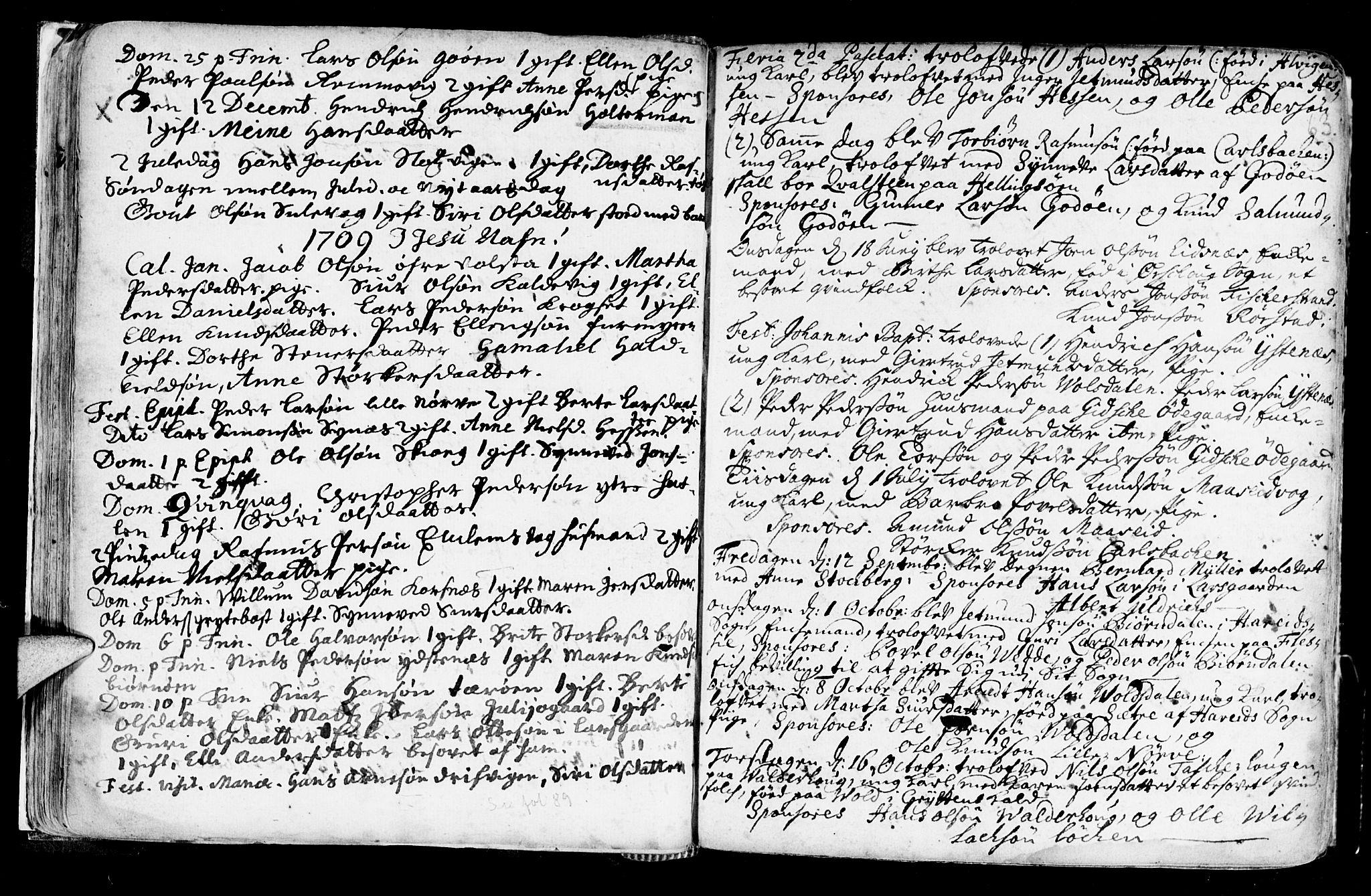 SAT, Ministerialprotokoller, klokkerbøker og fødselsregistre - Møre og Romsdal, 528/L0390: Ministerialbok nr. 528A01, 1698-1739, s. 62-63