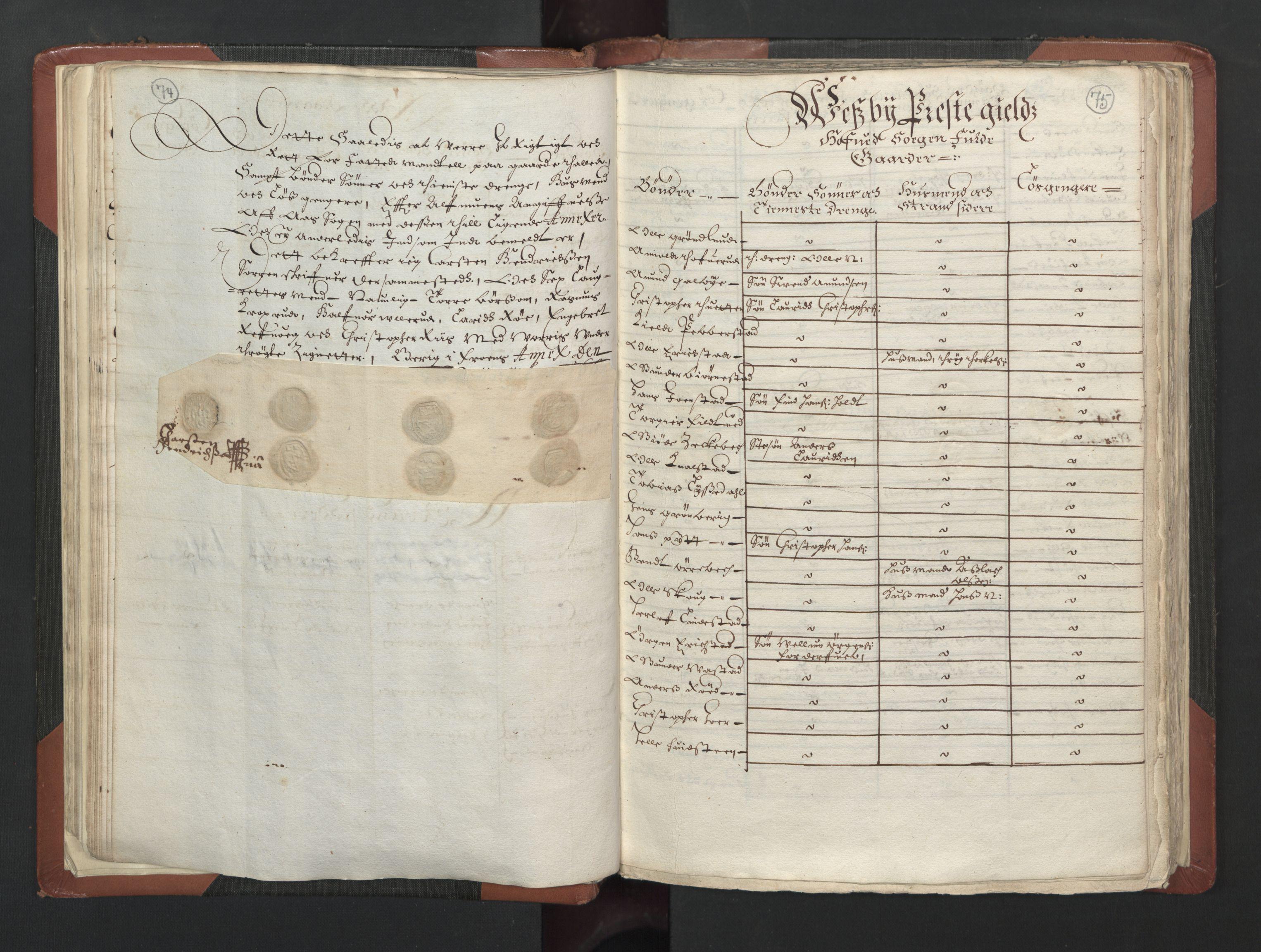 RA, Fogdenes og sorenskrivernes manntall 1664-1666, nr. 2: Aker fogderi, Follo fogderi, Nedre Romerike fogderi og Øvre Romerike fogderi, 1664, s. 74-75