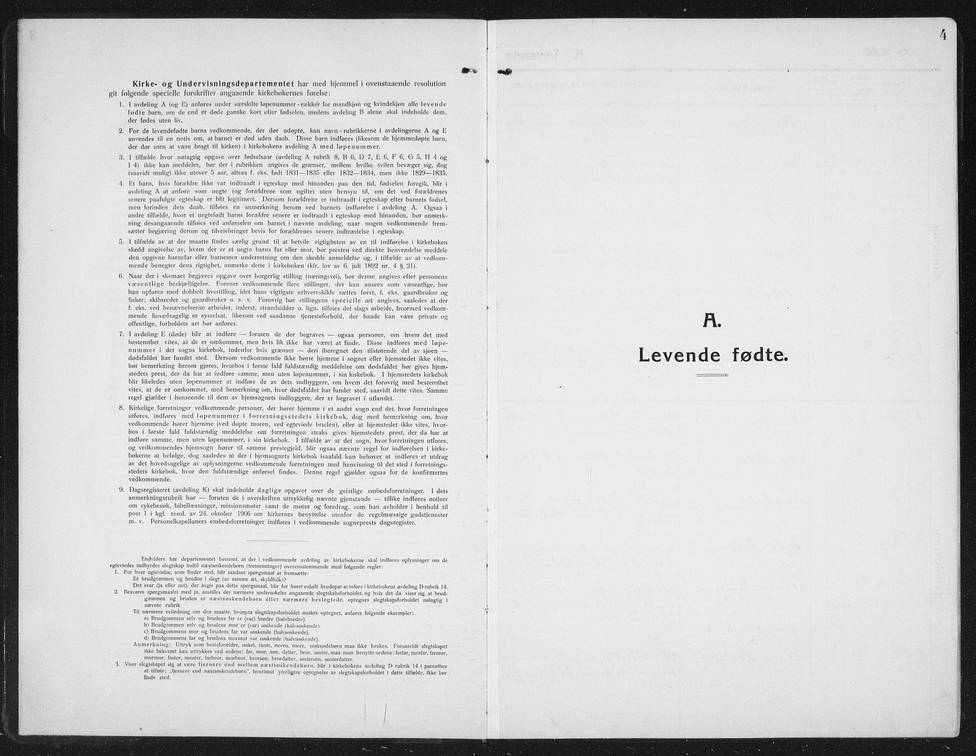 SAT, Ministerialprotokoller, klokkerbøker og fødselsregistre - Nord-Trøndelag, 742/L0413: Klokkerbok nr. 742C04, 1911-1938, s. 4