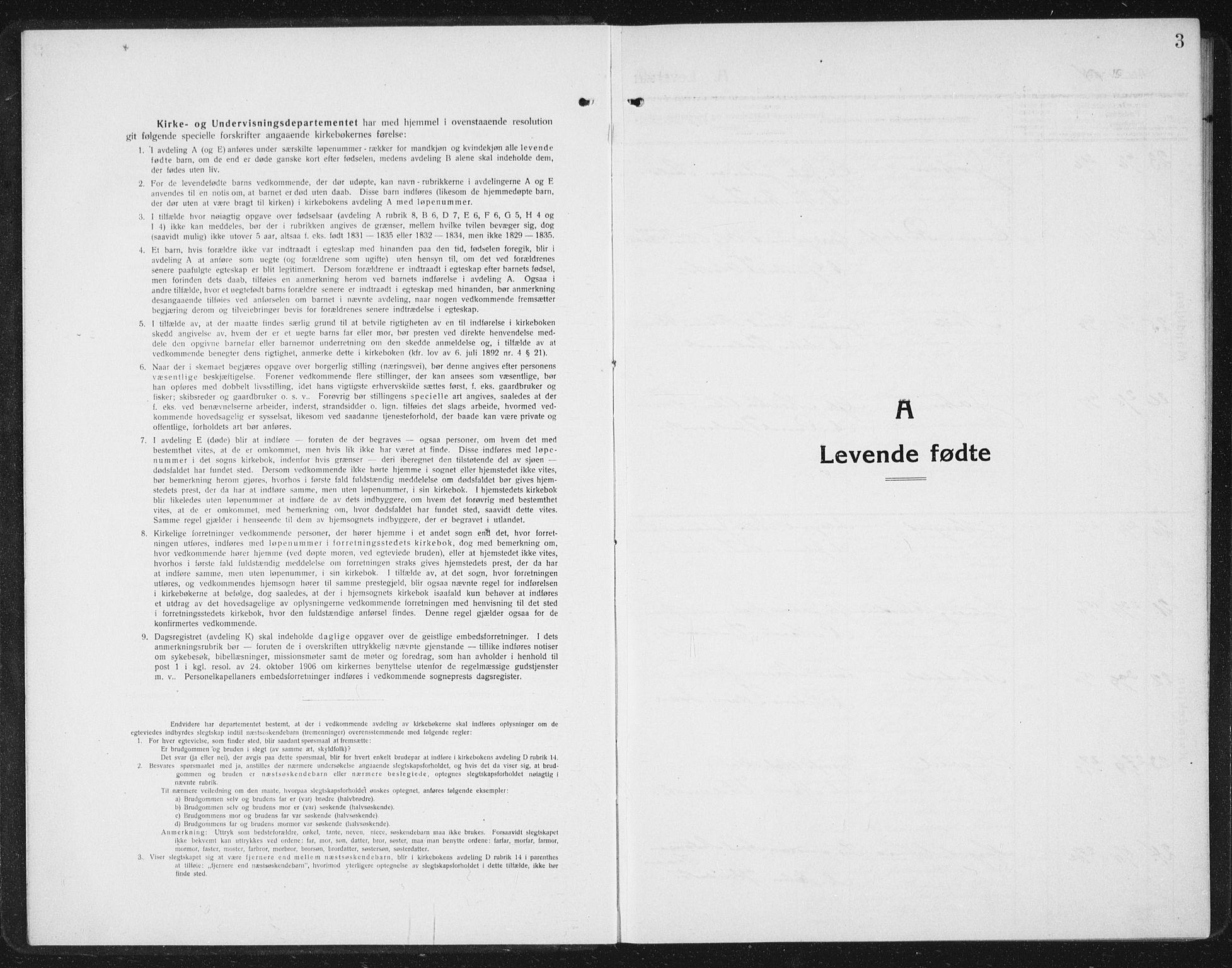 SAT, Ministerialprotokoller, klokkerbøker og fødselsregistre - Sør-Trøndelag, 630/L0506: Klokkerbok nr. 630C04, 1914-1933, s. 3