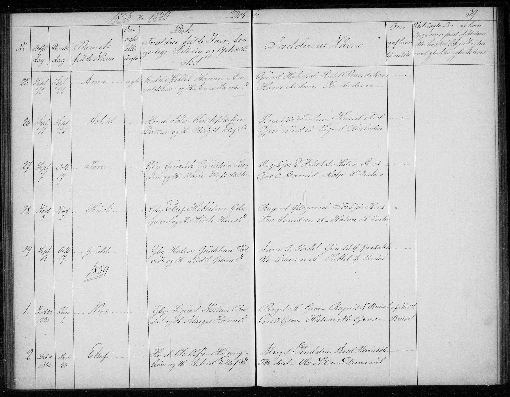 SAKO, Gransherad kirkebøker, F/Fb/L0003: Ministerialbok nr. II 3, 1844-1859, s. 59