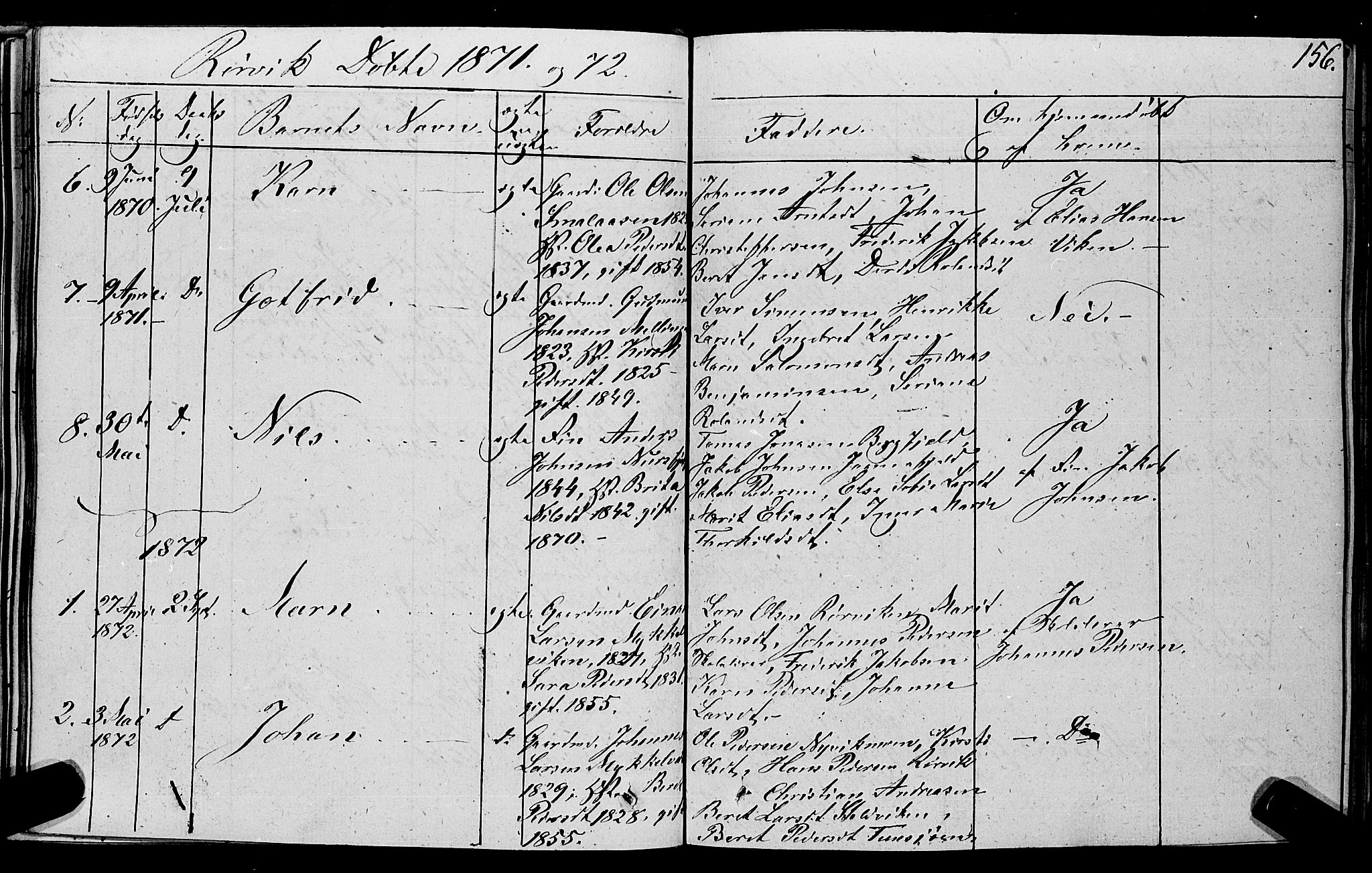SAT, Ministerialprotokoller, klokkerbøker og fødselsregistre - Nord-Trøndelag, 762/L0538: Ministerialbok nr. 762A02 /1, 1833-1879, s. 156