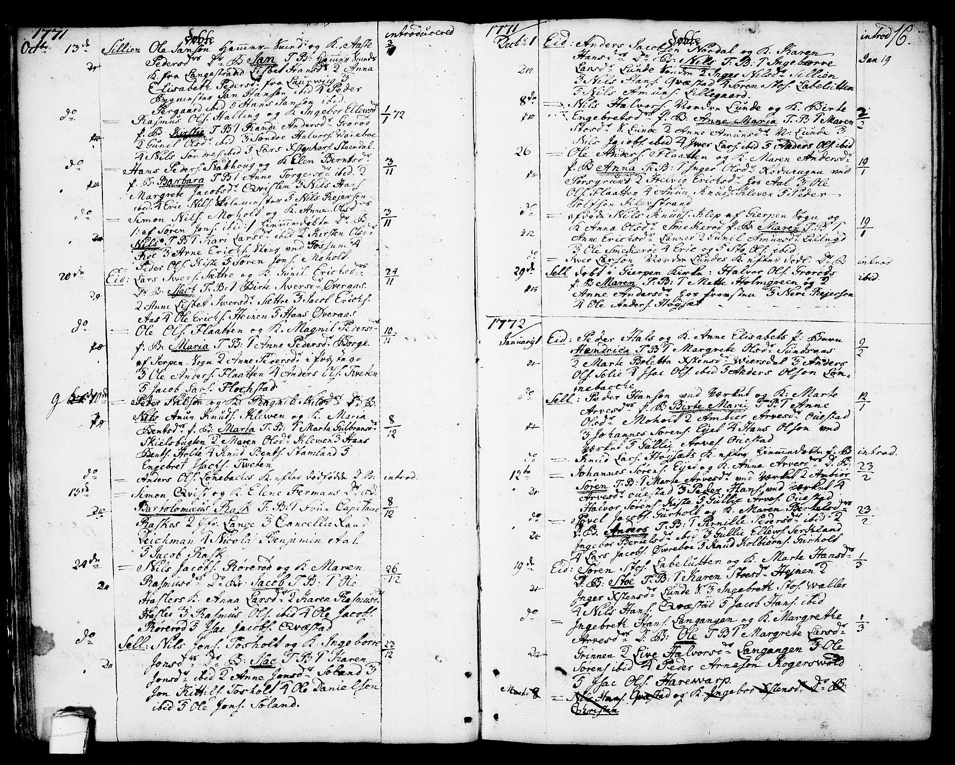 SAKO, Eidanger kirkebøker, F/Fa/L0006: Ministerialbok nr. 6, 1764-1814, s. 16