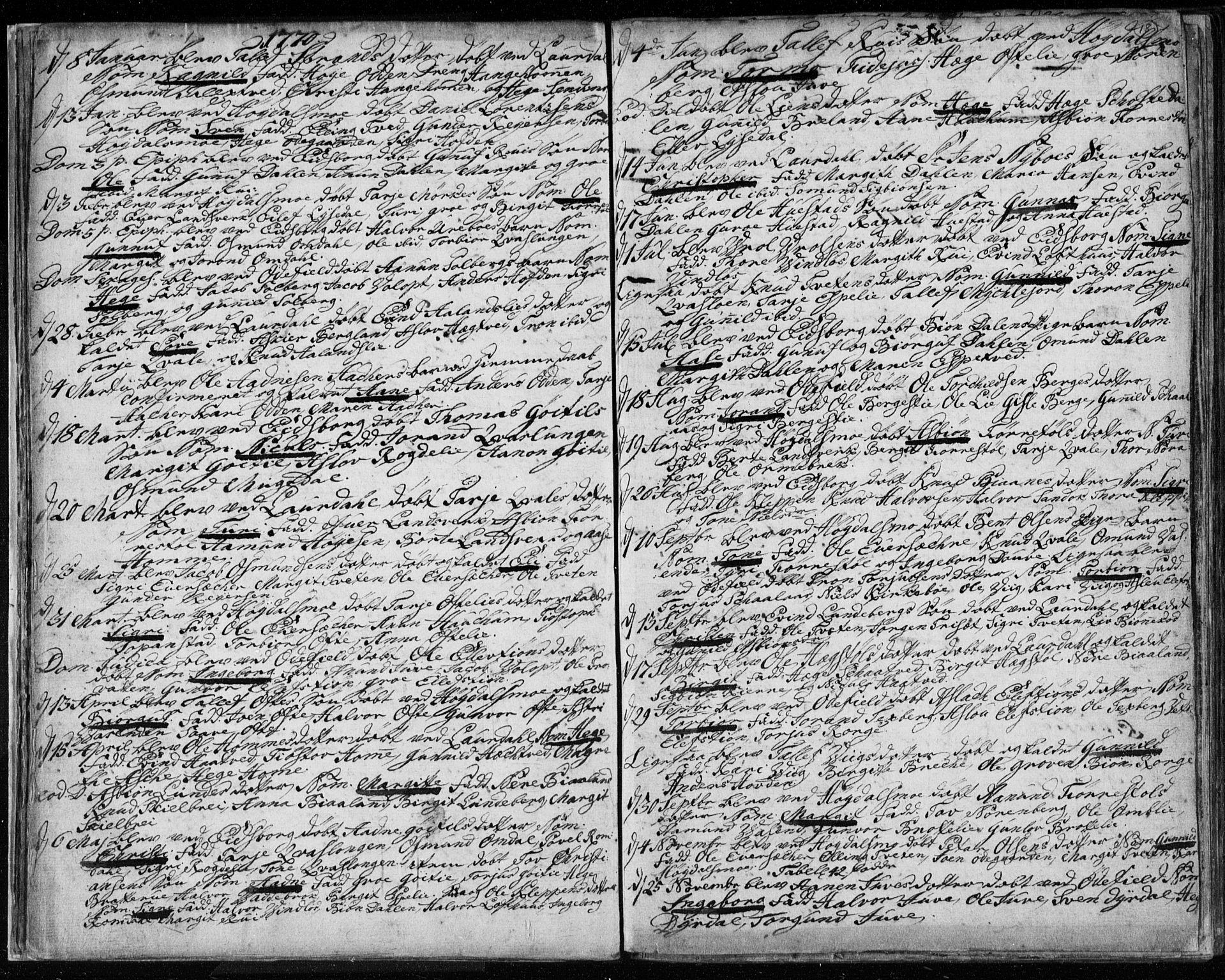SAKO, Lårdal kirkebøker, F/Fa/L0003: Ministerialbok nr. I 3, 1754-1790, s. 18