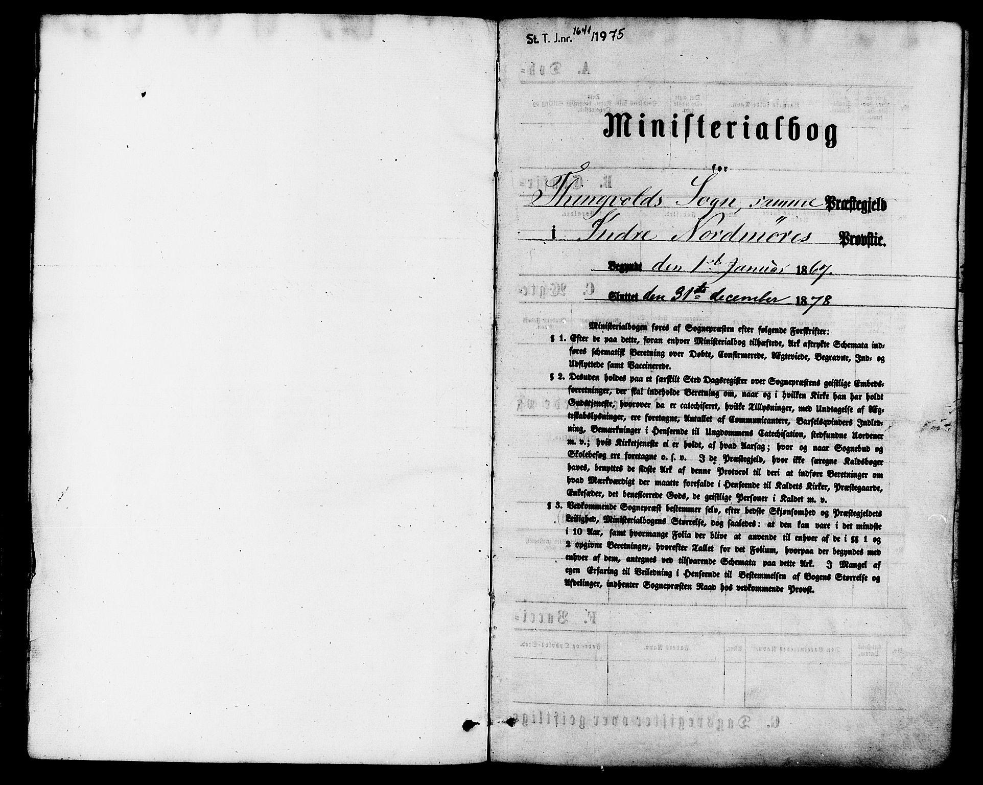 SAT, Ministerialprotokoller, klokkerbøker og fødselsregistre - Møre og Romsdal, 586/L0986: Ministerialbok nr. 586A12, 1867-1878