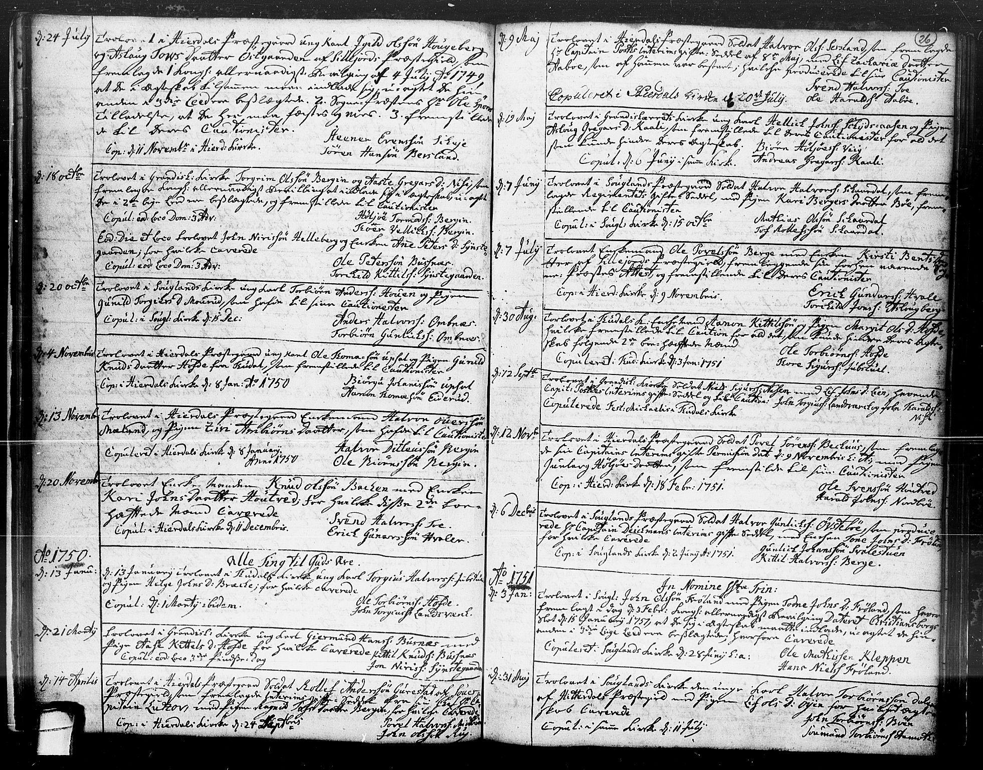 SAKO, Hjartdal kirkebøker, F/Fa/L0004: Ministerialbok nr. I 4, 1727-1795, s. 26