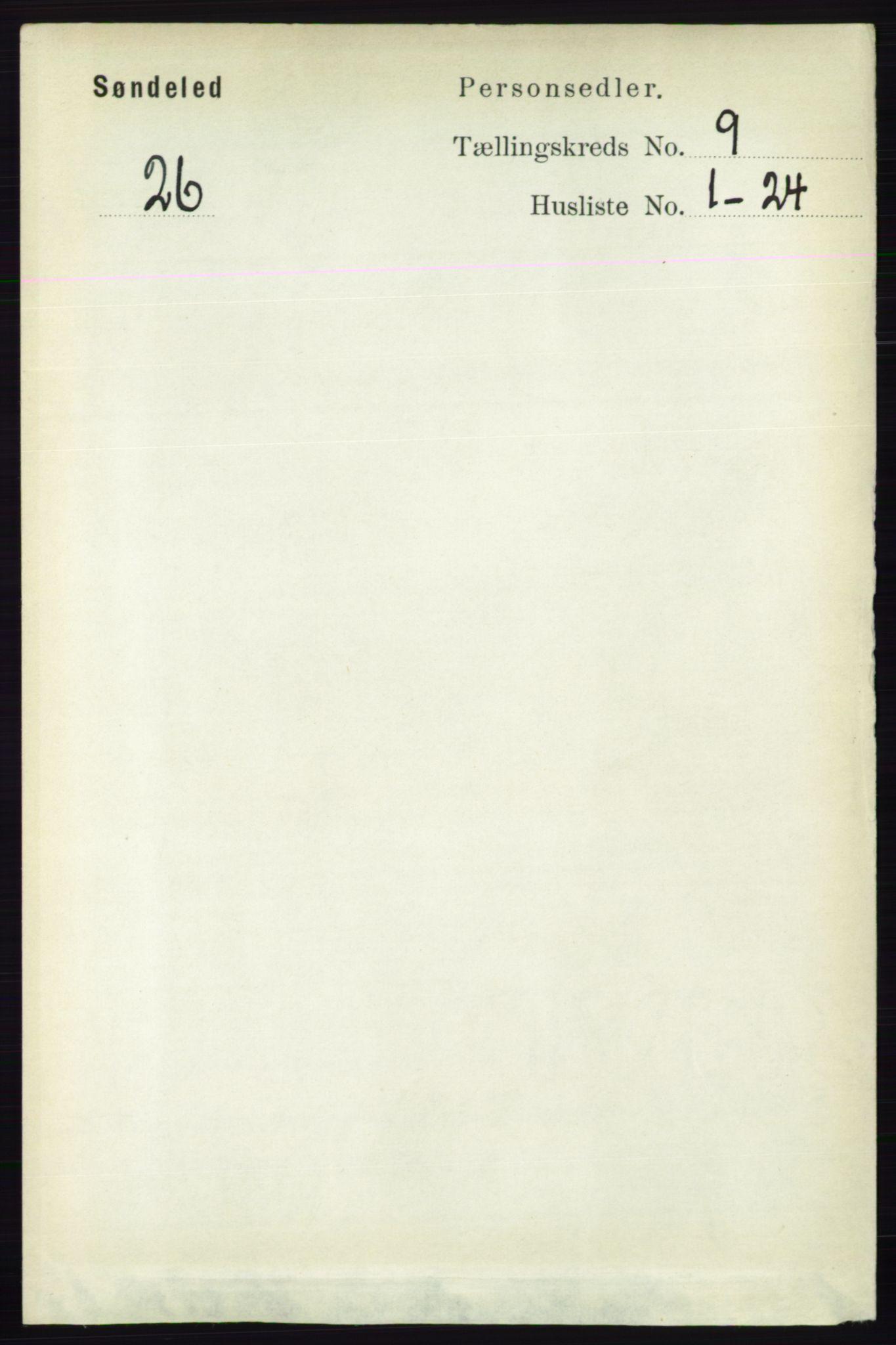 RA, Folketelling 1891 for 0913 Søndeled herred, 1891, s. 2861