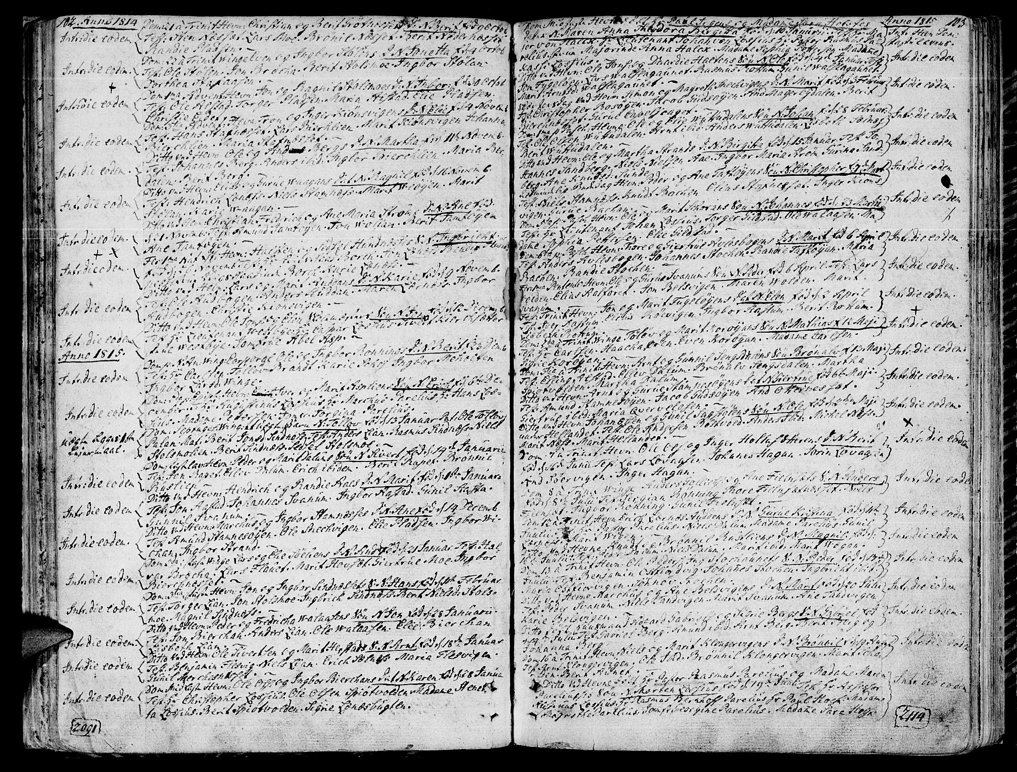 SAT, Ministerialprotokoller, klokkerbøker og fødselsregistre - Sør-Trøndelag, 630/L0490: Ministerialbok nr. 630A03, 1795-1818, s. 102-103