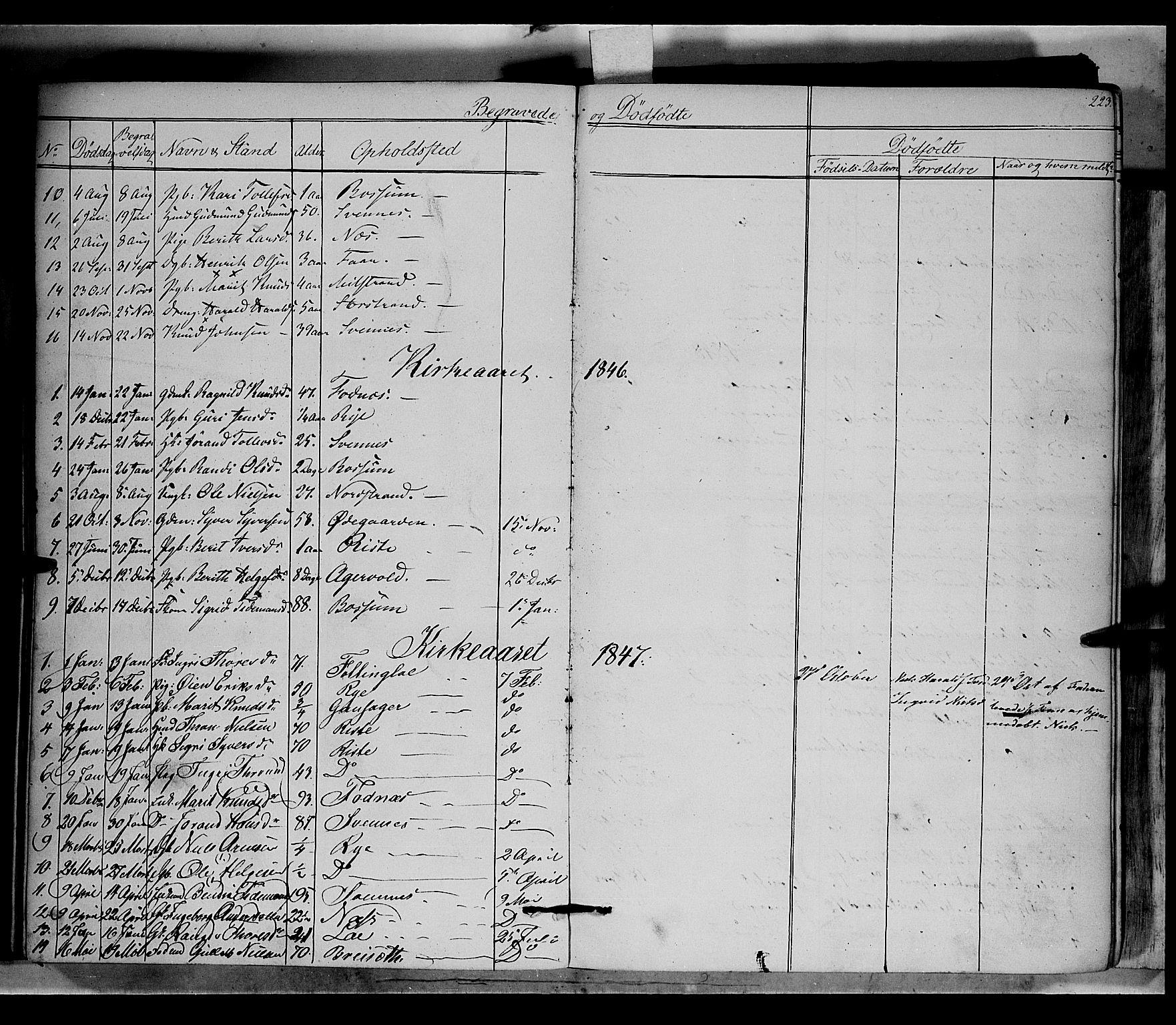 SAH, Nord-Aurdal prestekontor, Ministerialbok nr. 5, 1842-1863, s. 223