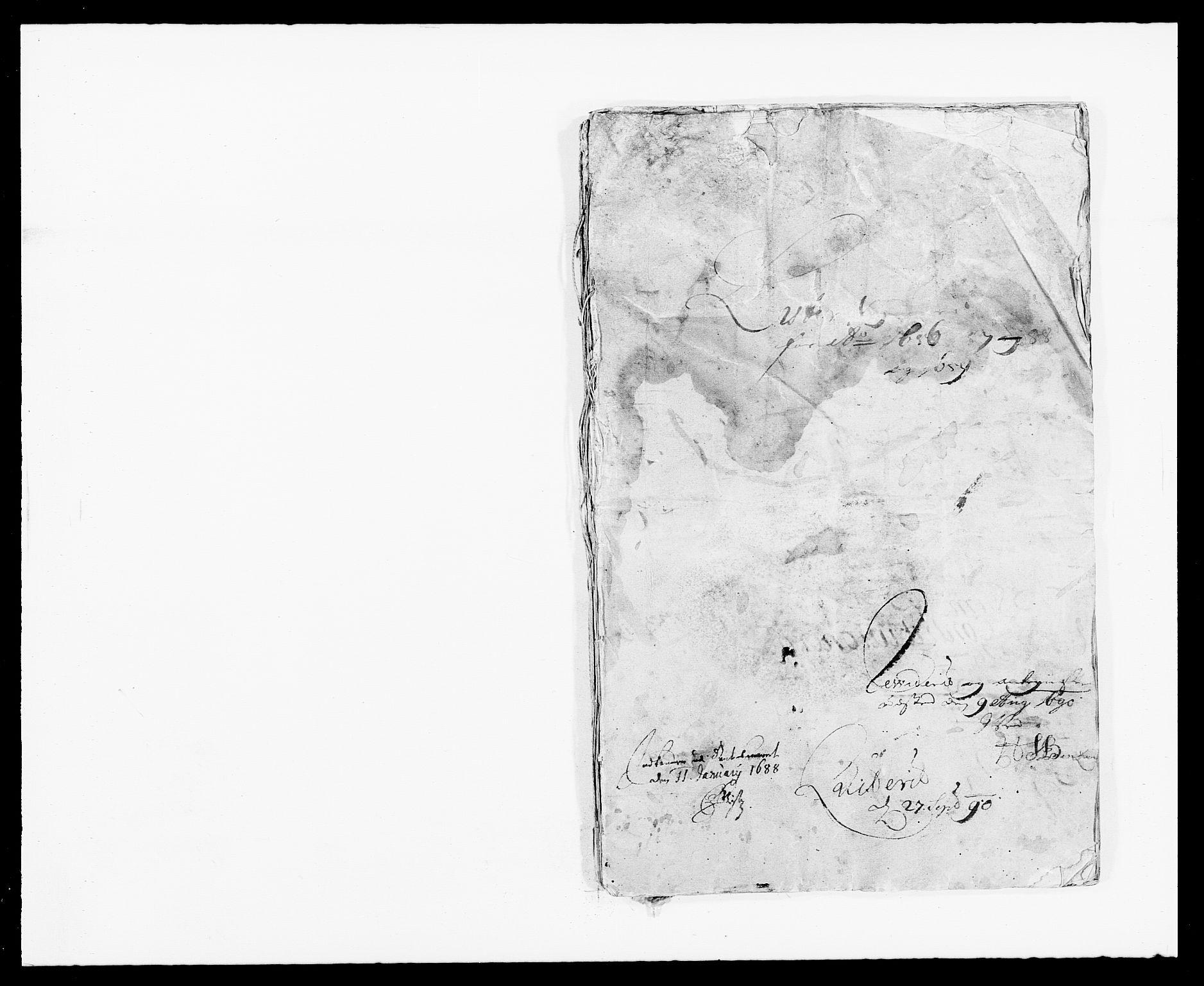RA, Rentekammeret inntil 1814, Reviderte regnskaper, Fogderegnskap, R41/L2534: Fogderegnskap Lista, 1686-1688, s. 1
