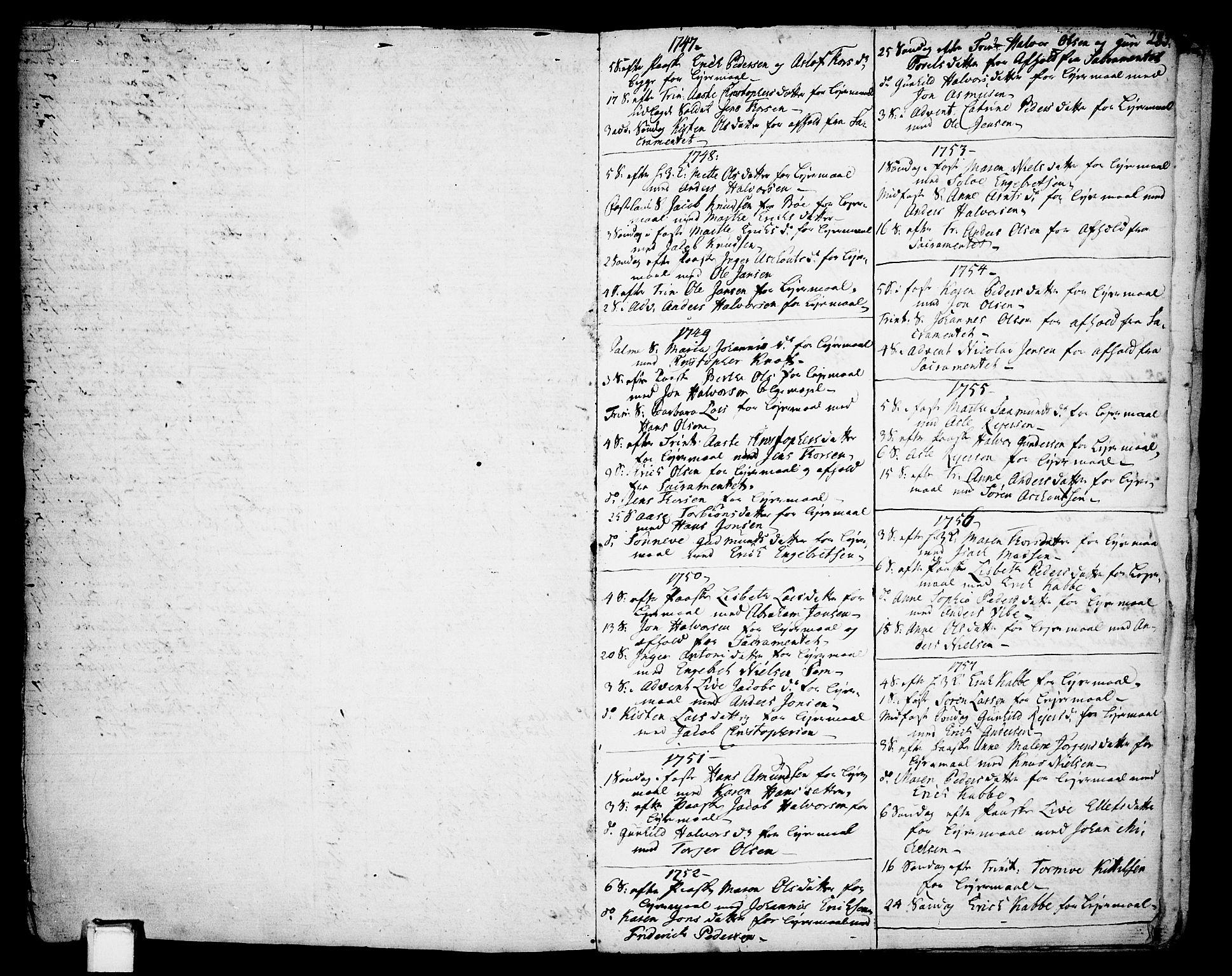 SAKO, Gjerpen kirkebøker, F/Fa/L0002: Ministerialbok nr. 2, 1747-1795, s. 285