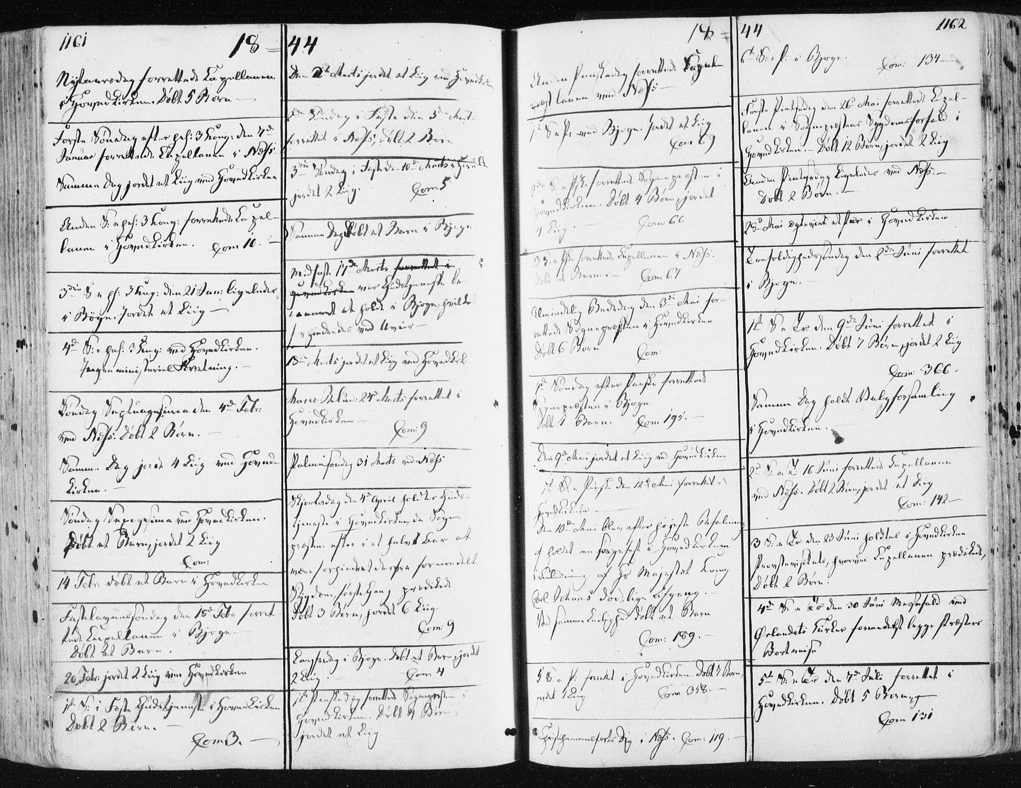 SAT, Ministerialprotokoller, klokkerbøker og fødselsregistre - Sør-Trøndelag, 659/L0736: Ministerialbok nr. 659A06, 1842-1856, s. 1161-1162