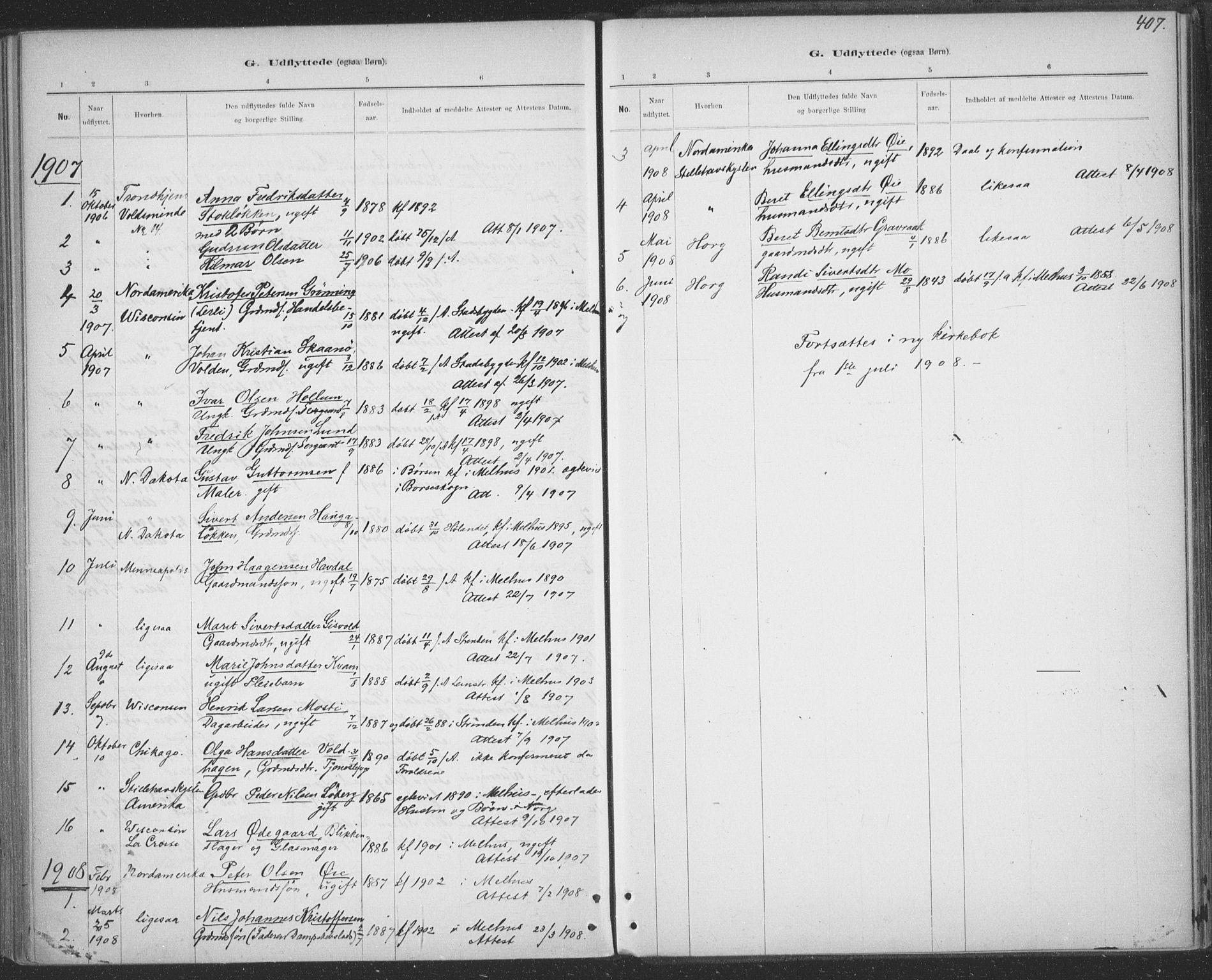 SAT, Ministerialprotokoller, klokkerbøker og fødselsregistre - Sør-Trøndelag, 691/L1085: Ministerialbok nr. 691A17, 1887-1908, s. 407