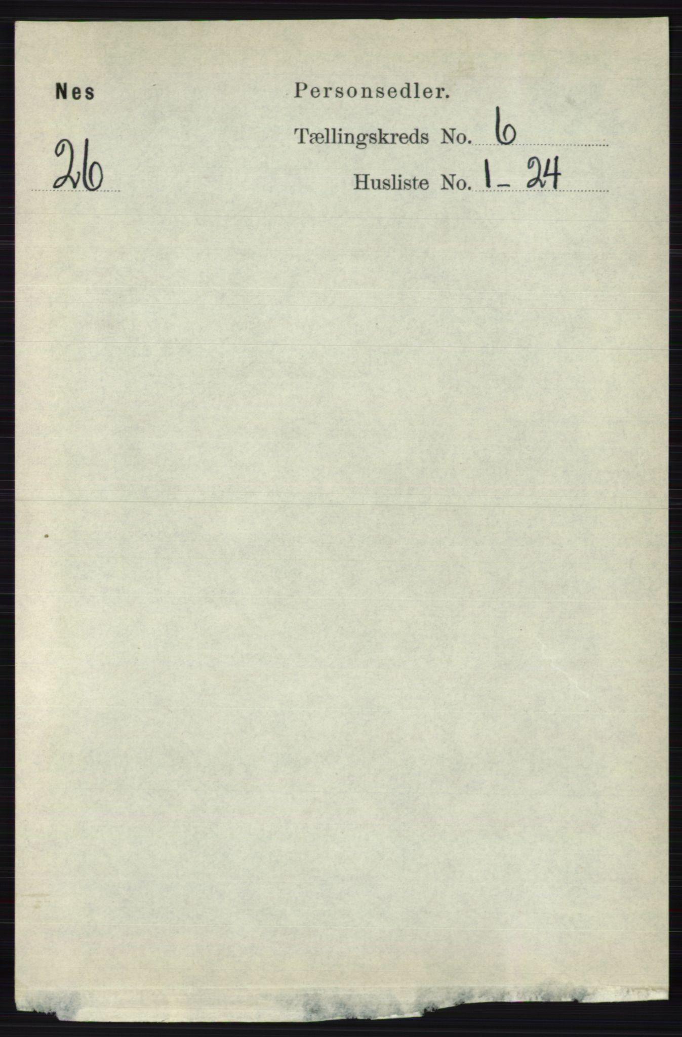 RA, Folketelling 1891 for 0236 Nes herred, 1891, s. 3393