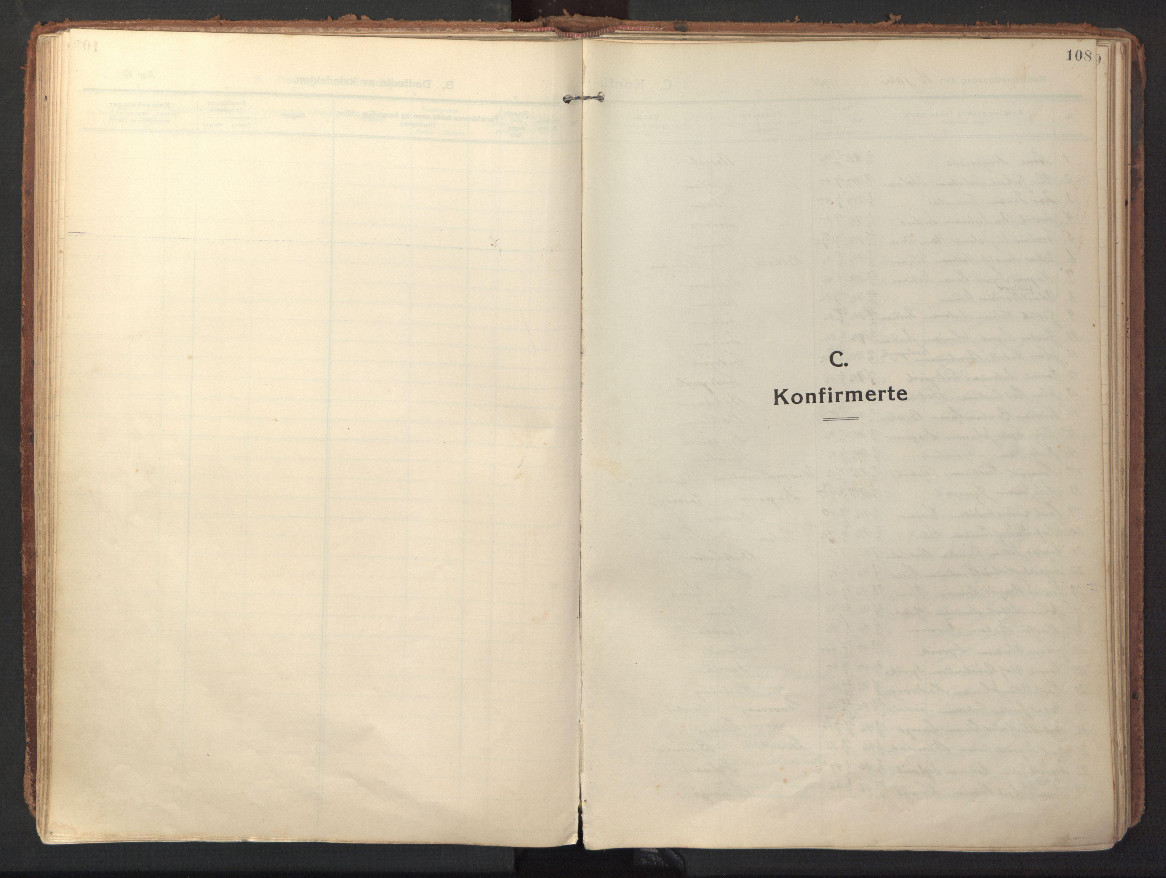 SAT, Ministerialprotokoller, klokkerbøker og fødselsregistre - Sør-Trøndelag, 640/L0581: Ministerialbok nr. 640A06, 1910-1924, s. 108